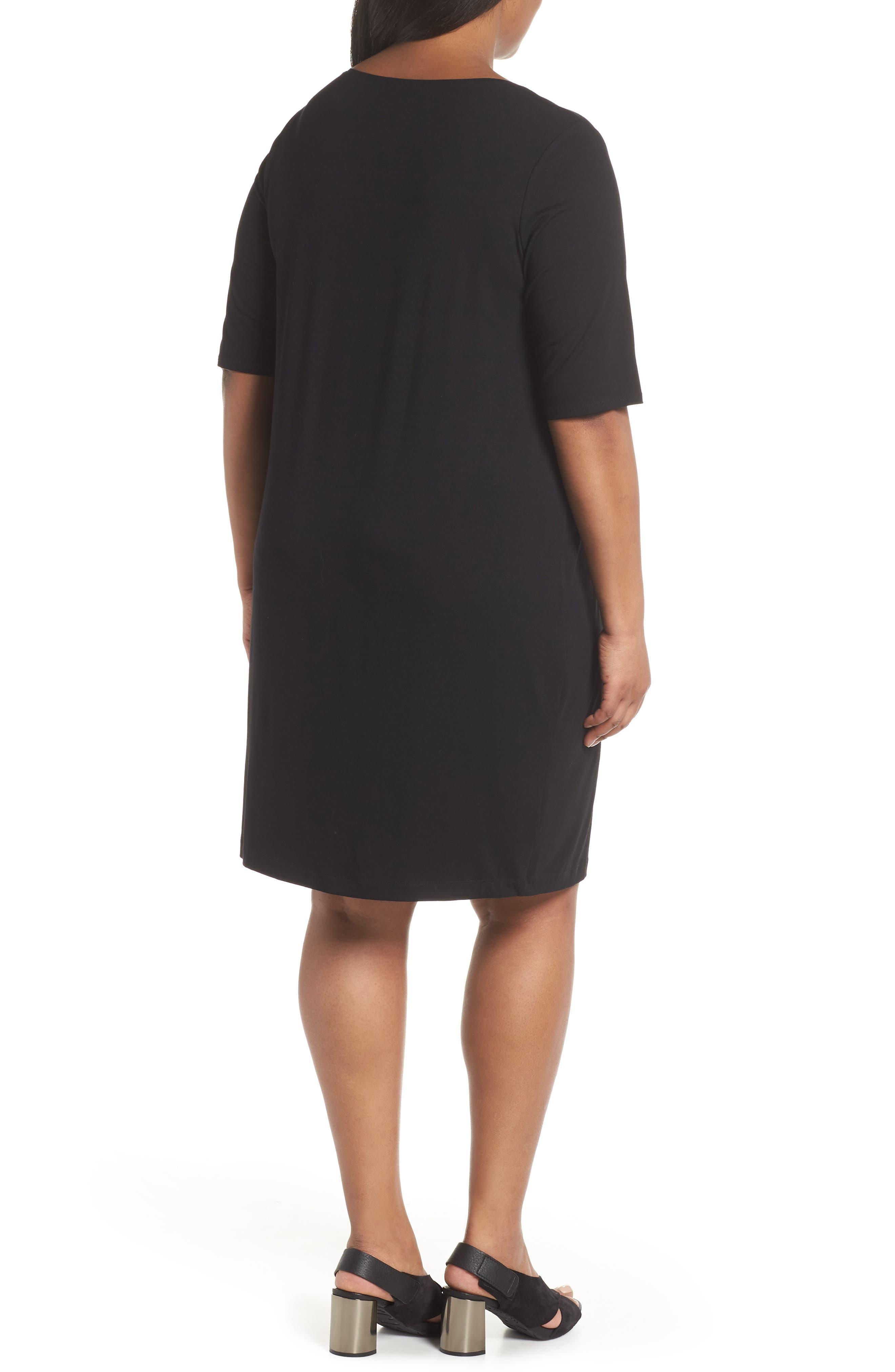 V-Neck Stretch Jersey Shift Dress,                             Alternate thumbnail 7, color,