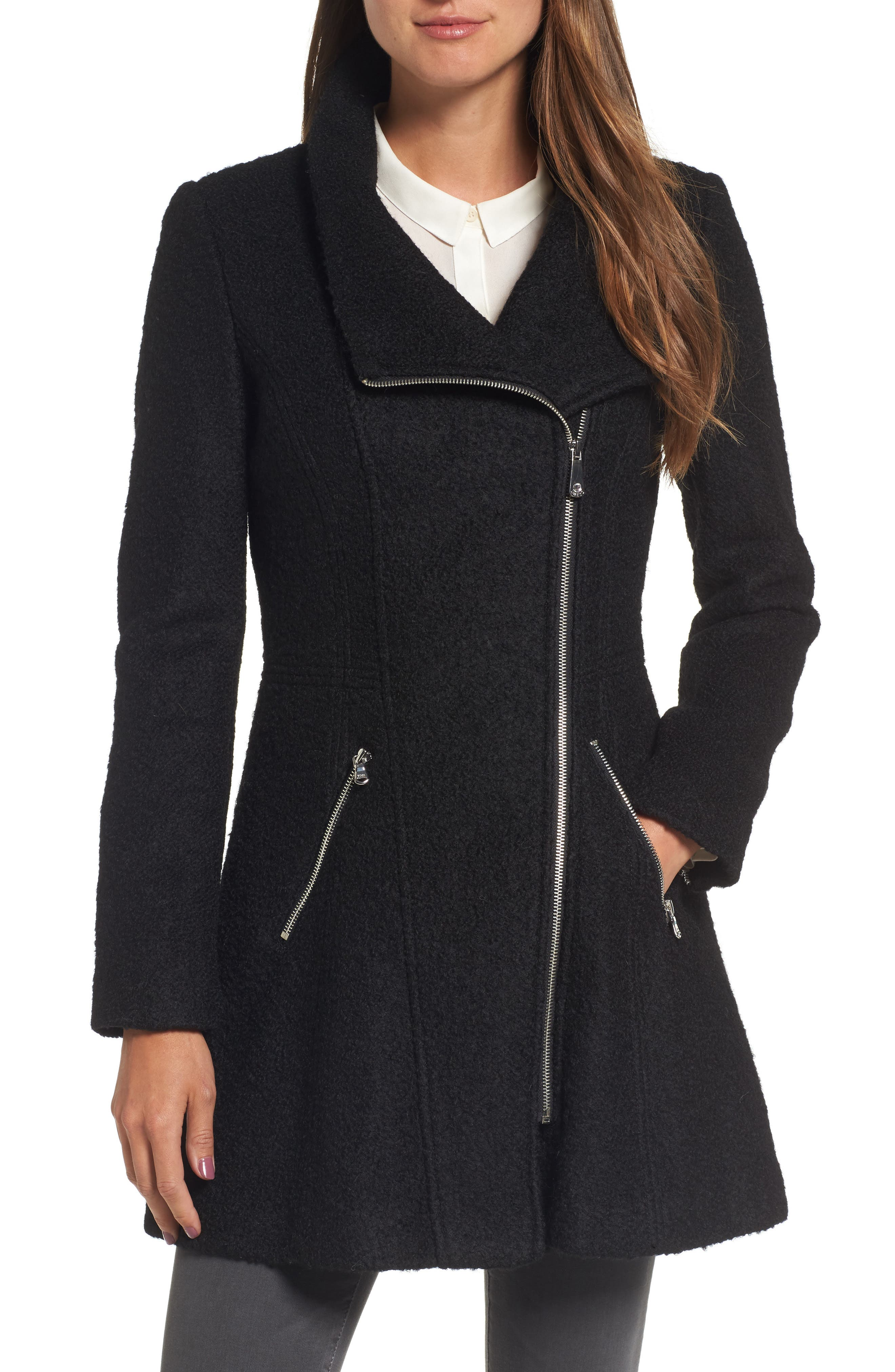Asymmetrical Coat,                             Main thumbnail 1, color,                             001