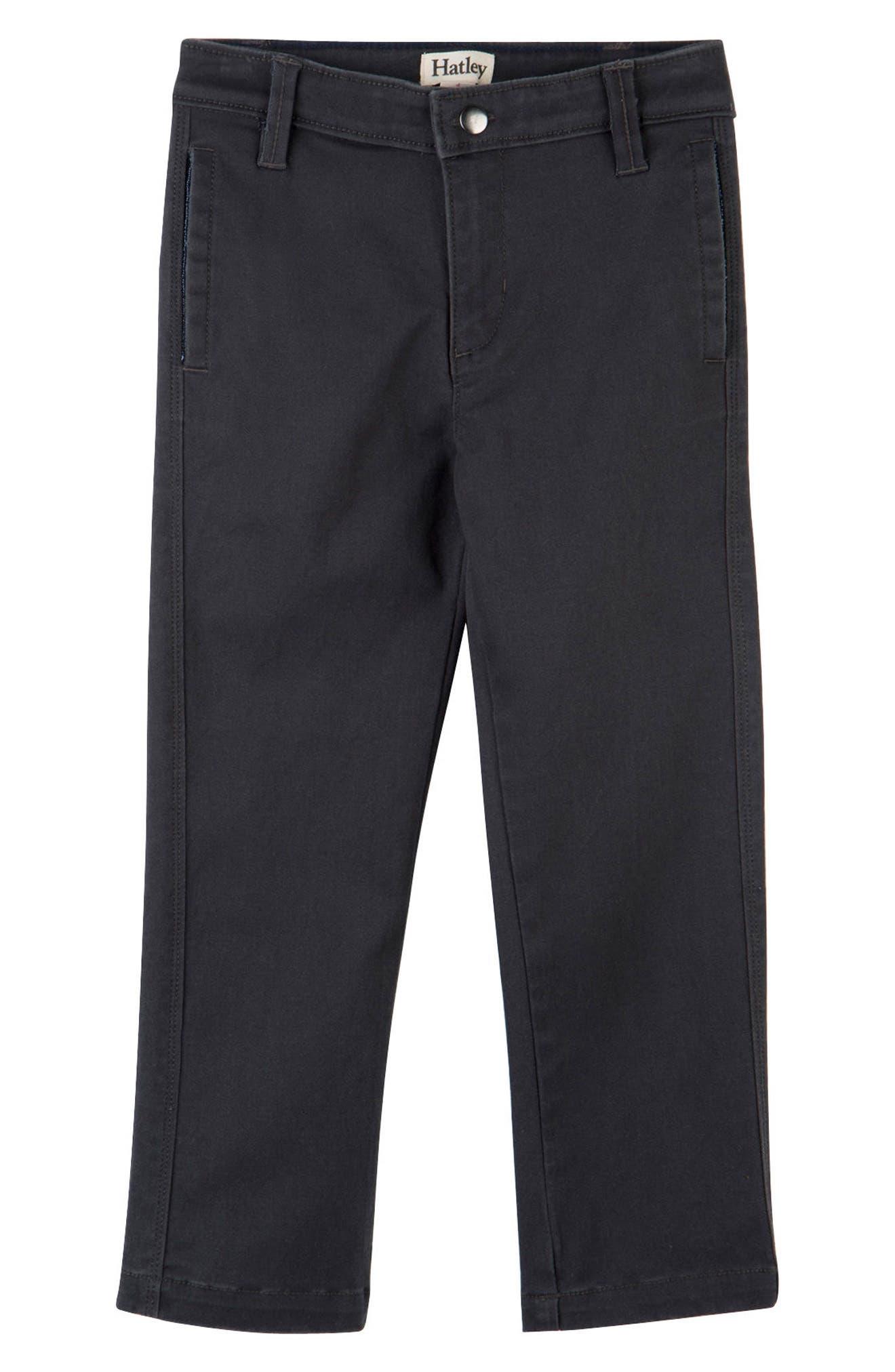 Boys Hatley Stretch Cotton Twill Pants Size 4  Grey
