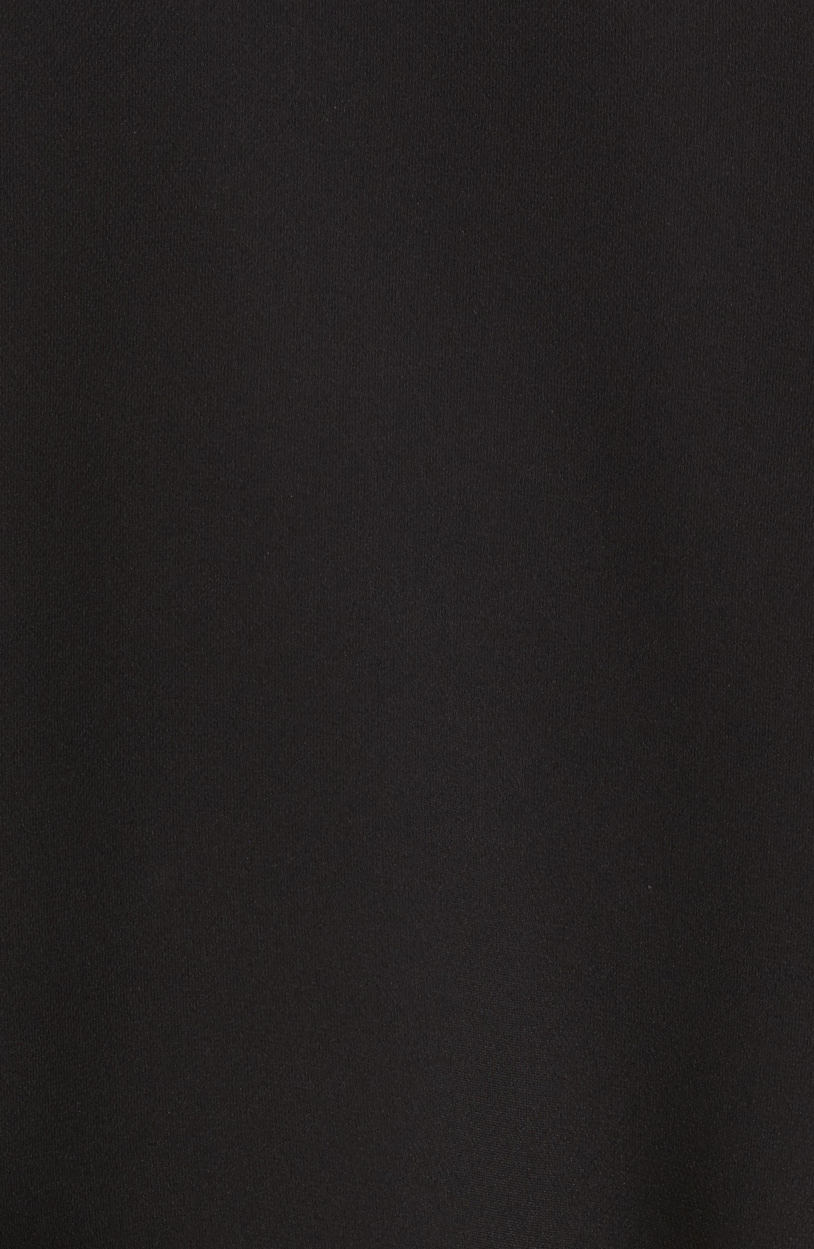 Lara One-Shoulder Tie Silk Top,                             Alternate thumbnail 5, color,                             001