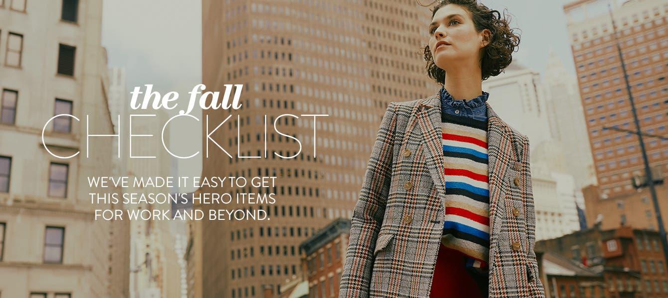 The fall checklist.