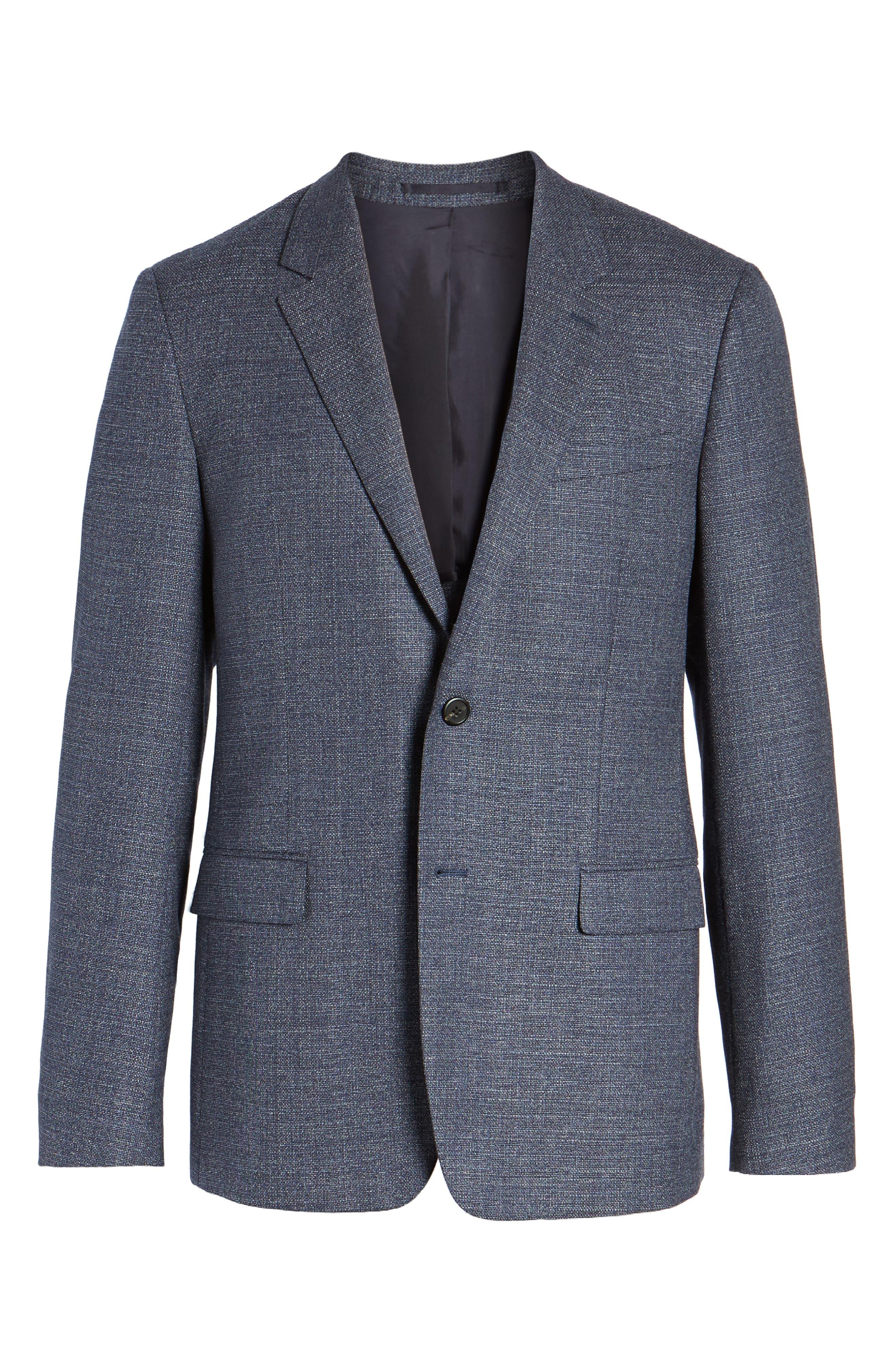 Gansevoort Regular Fit Wool Blazer,                             Alternate thumbnail 5, color,