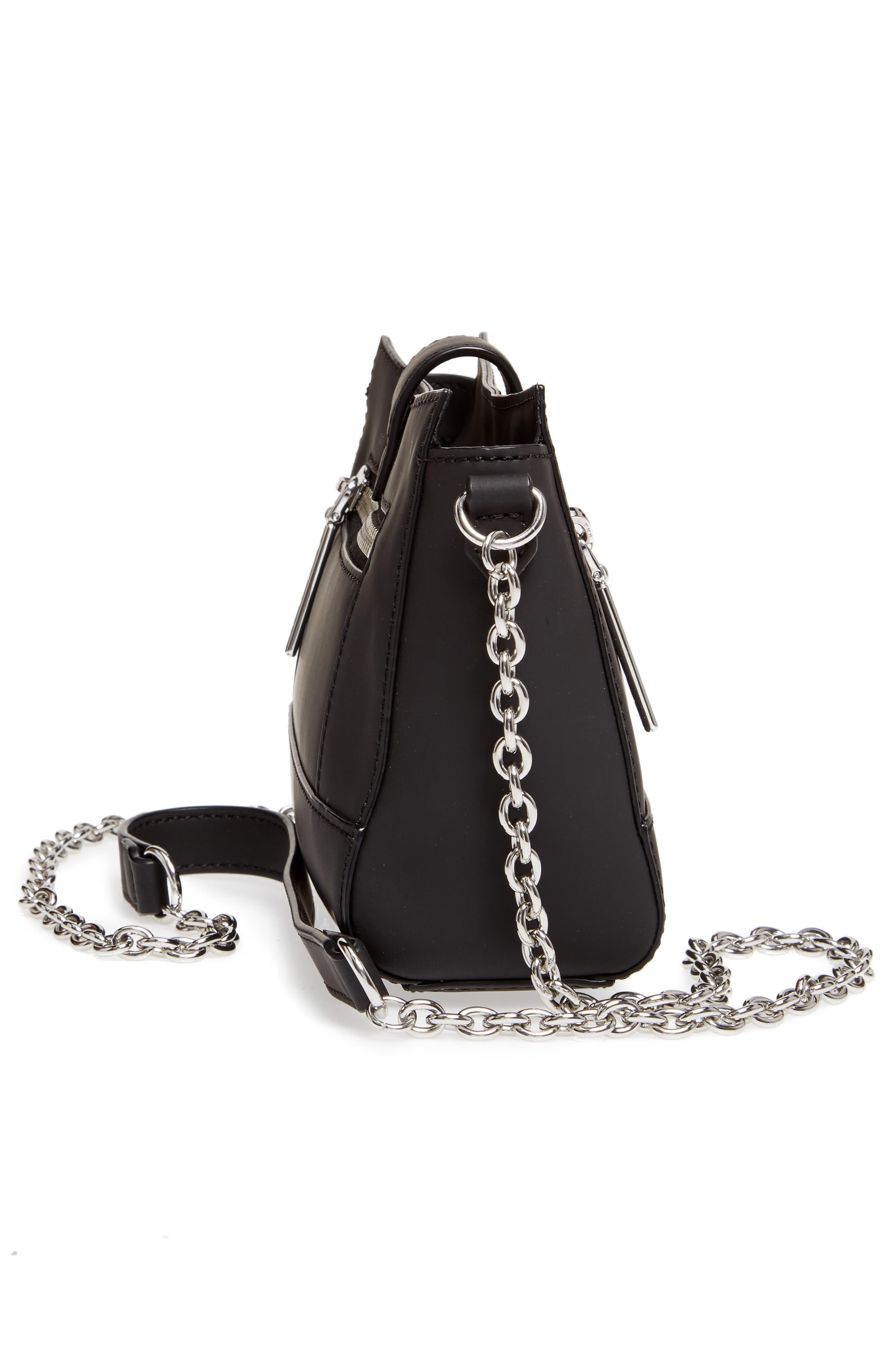 Mini Kalifornia Grommato Leather Shoulder Bag,                             Alternate thumbnail 5, color,                             001