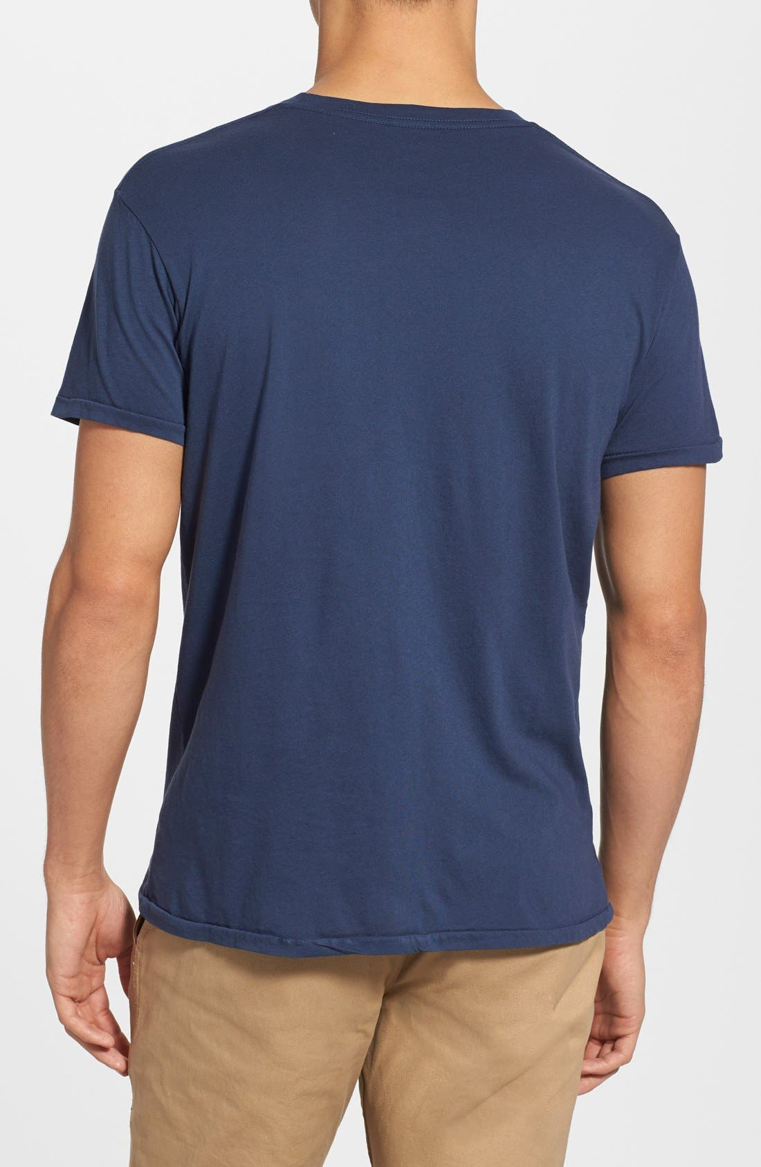 'Waves' Graphic T-Shirt,                             Alternate thumbnail 3, color,                             NAVY