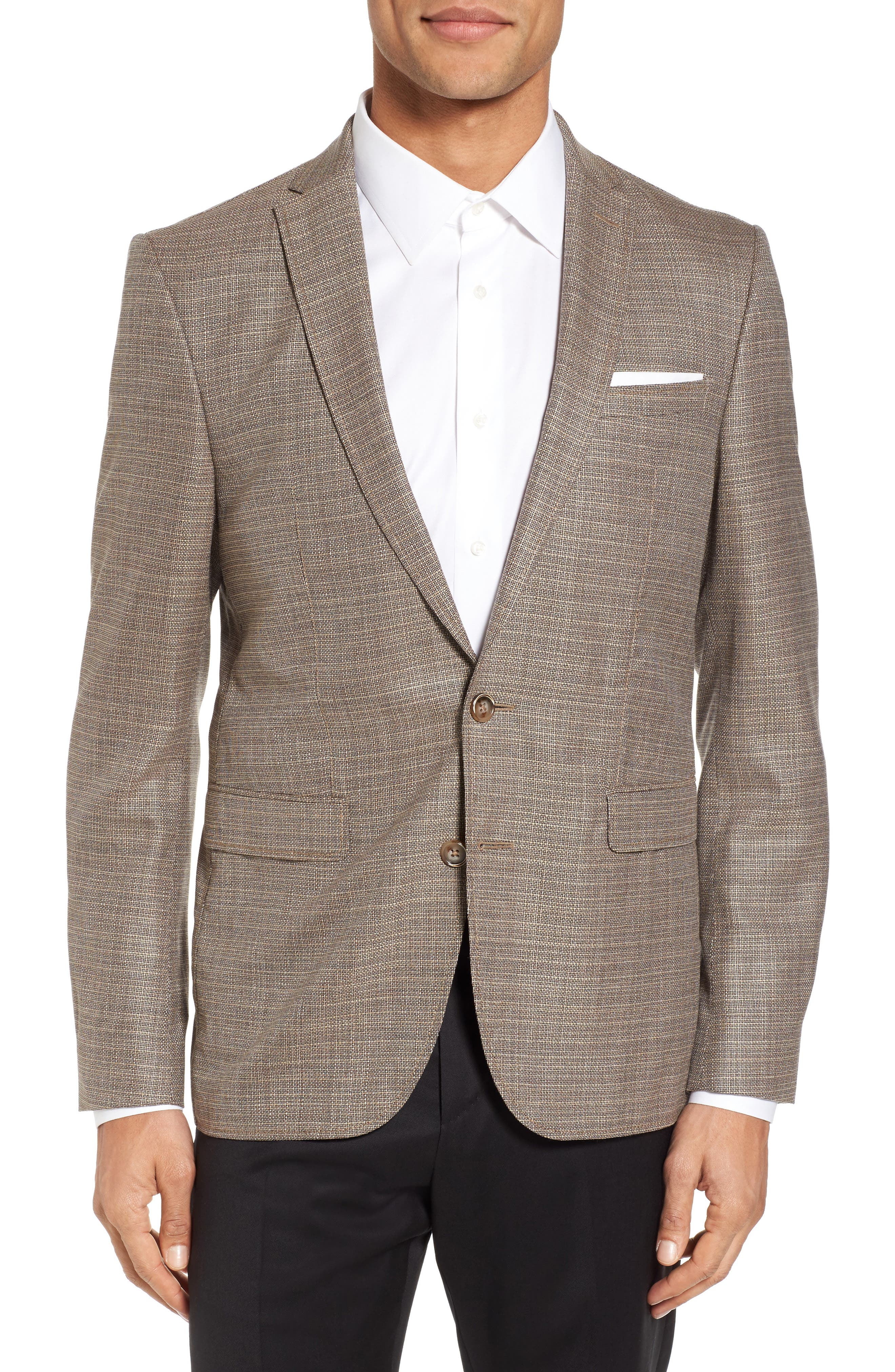 Trim Fit Wool Blazer,                         Main,                         color, 271