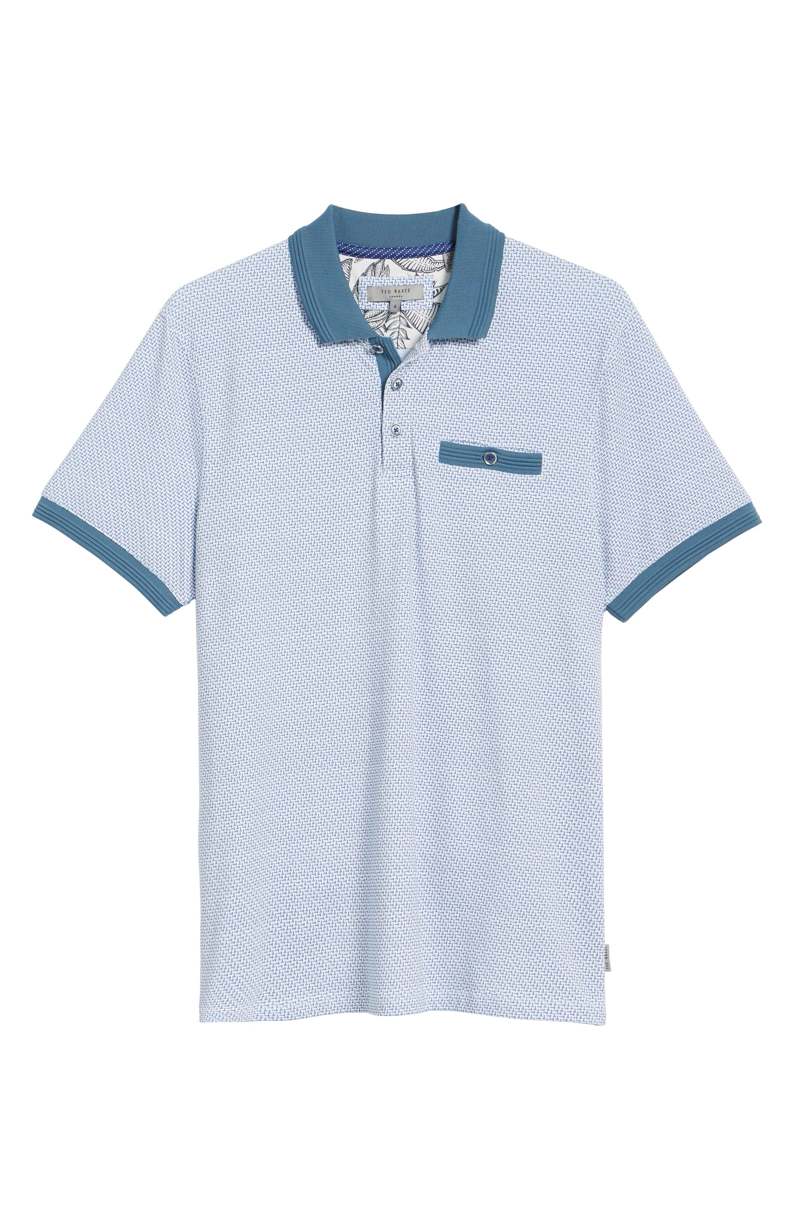 Sloughi Trim Fit Stretch Polo Shirt,                             Alternate thumbnail 6, color,                             400