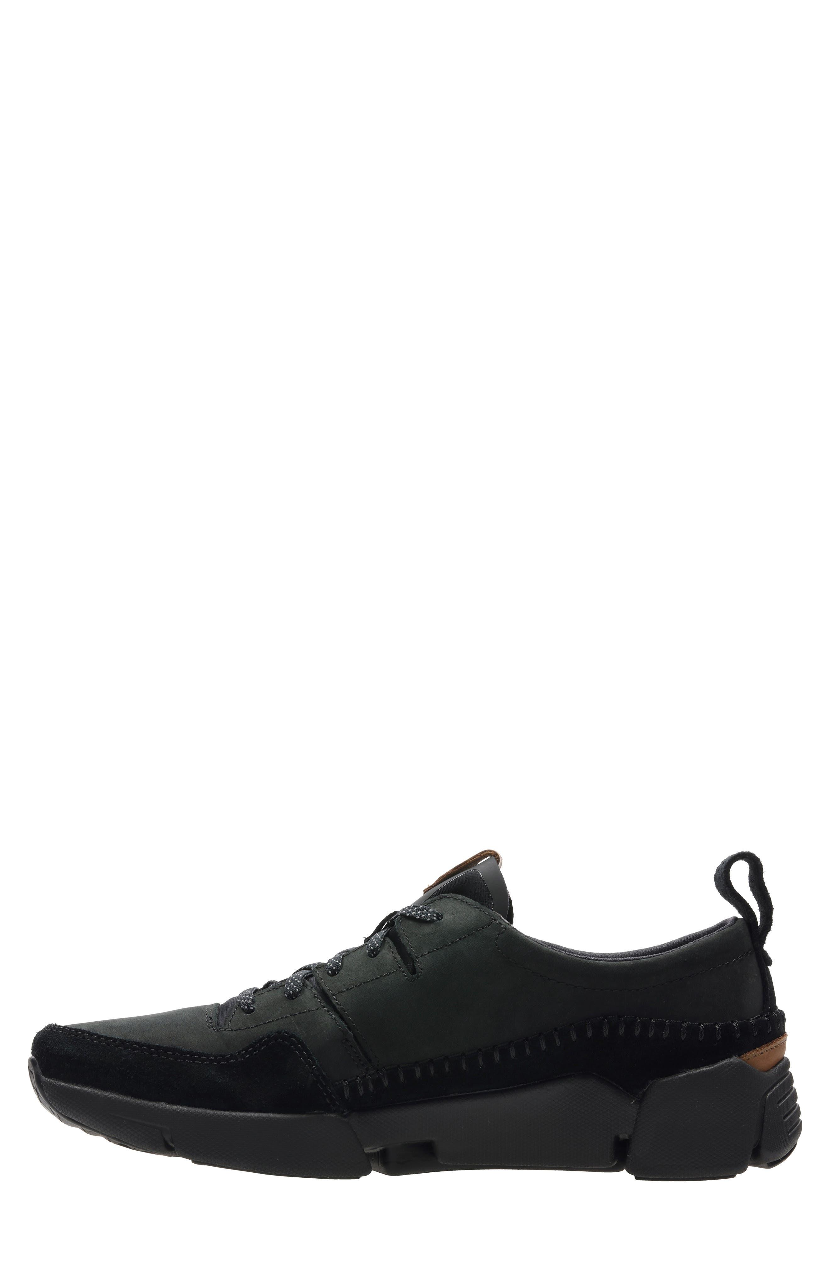 Tri-Active Run Sneaker,                             Alternate thumbnail 7, color,                             BLACK LEATHER