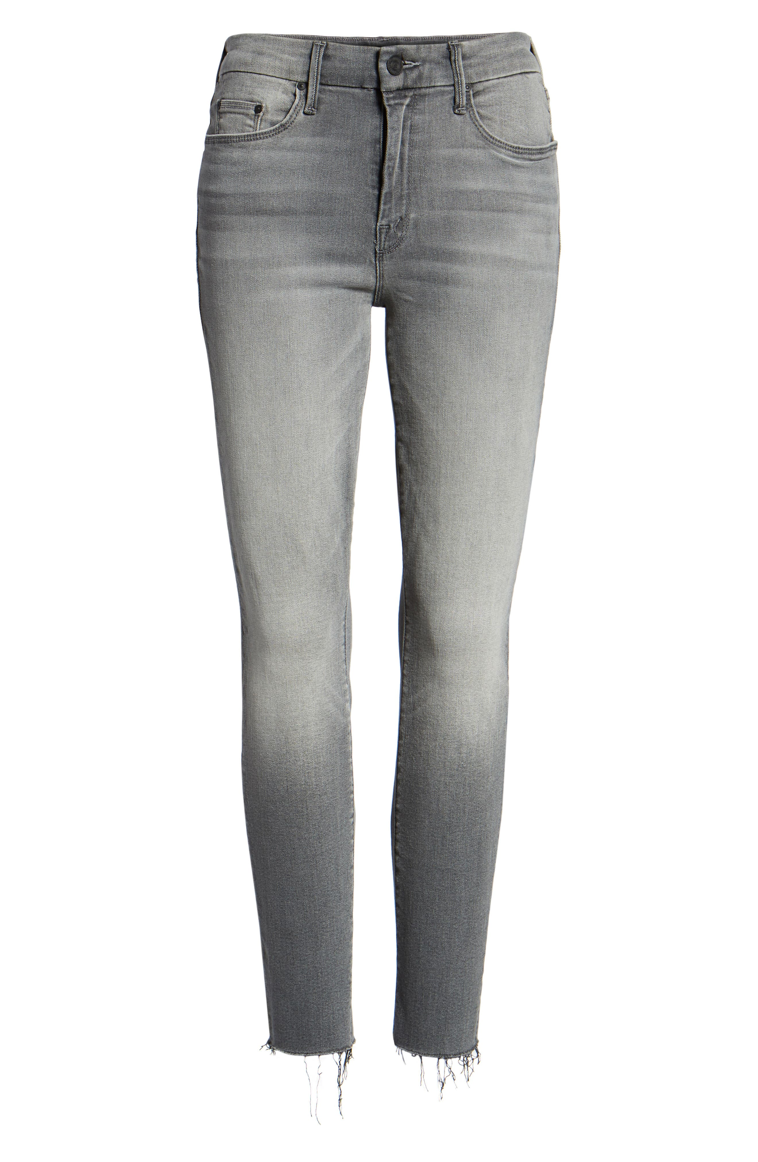 The Looker Frayed Ankle Jeans,                             Alternate thumbnail 7, color,                             SUPER MOON