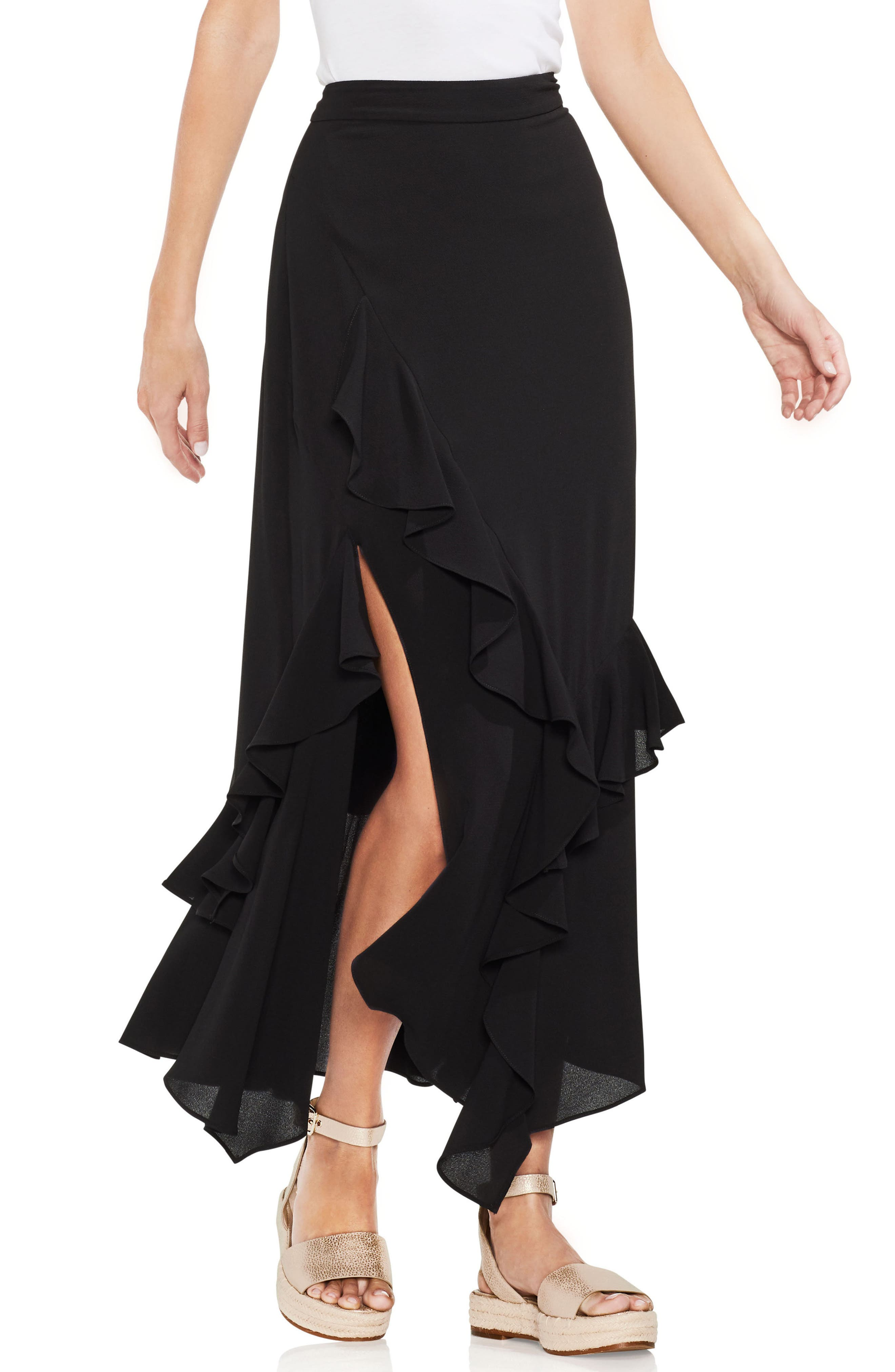 Tiered Ruffle Skirt,                         Main,                         color, 001