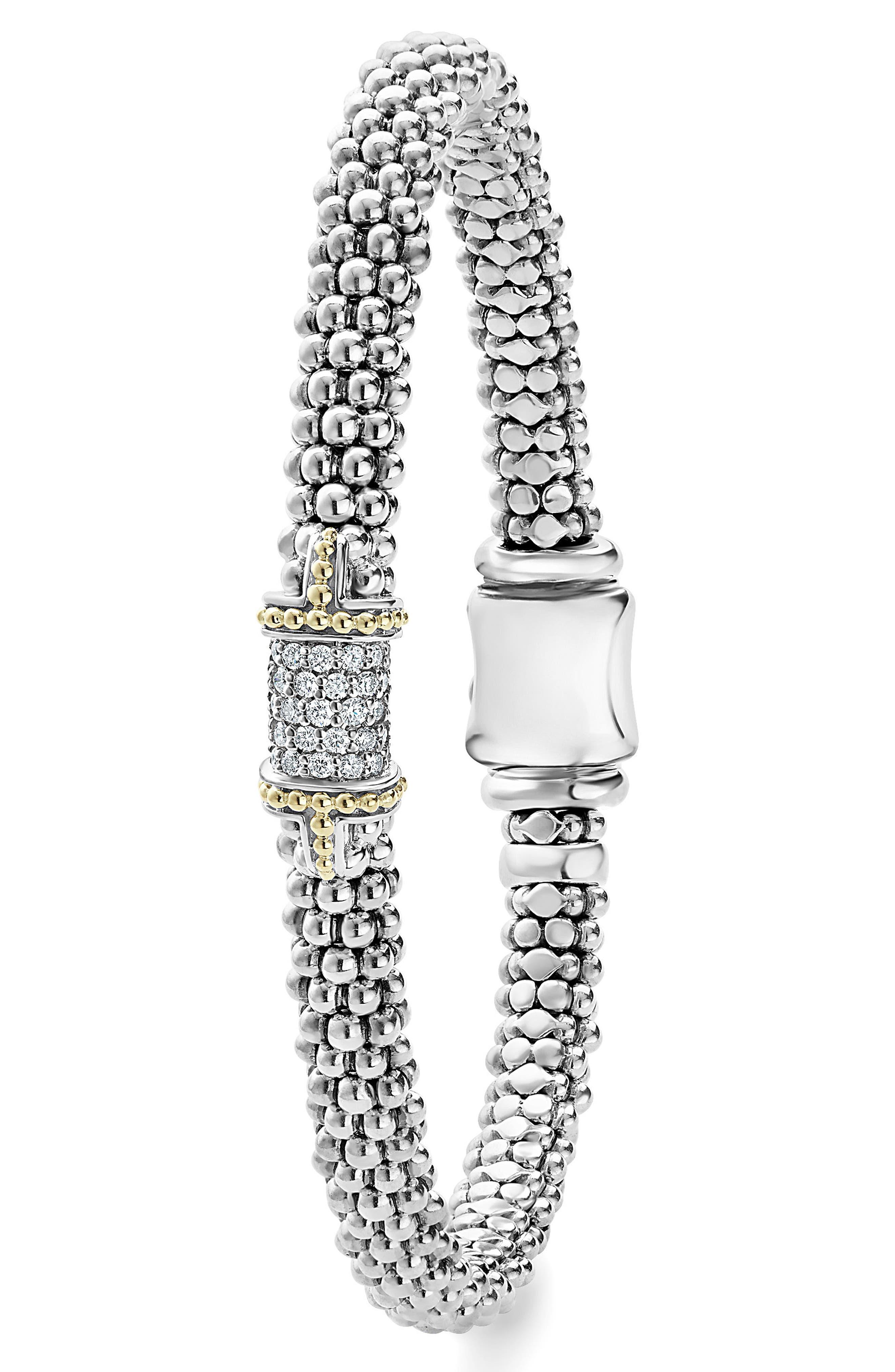Diamond Caviar Bracelet,                             Alternate thumbnail 3, color,                             040