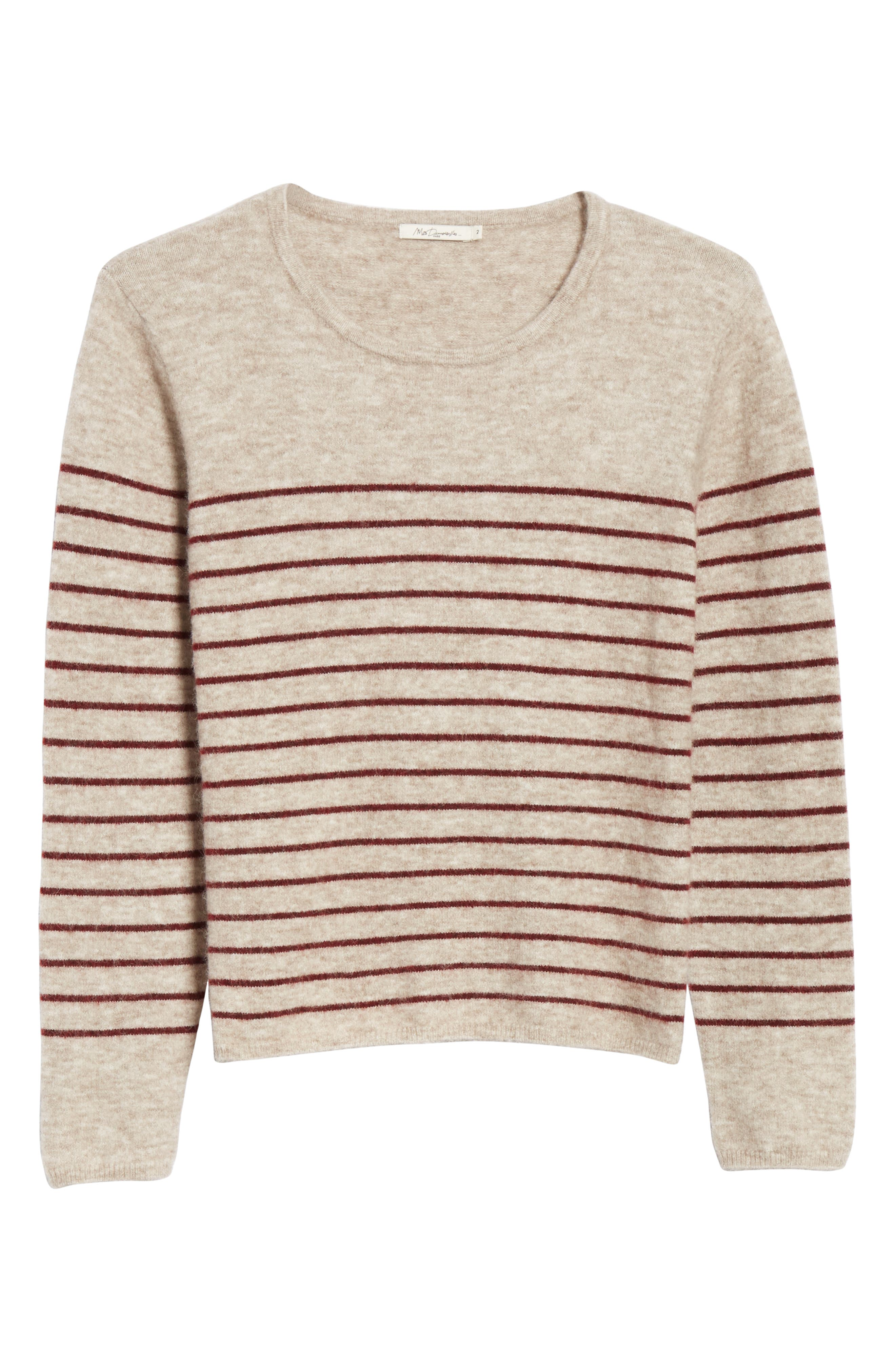 Artaud Stripe Sweater,                             Alternate thumbnail 6, color,                             BEIGE
