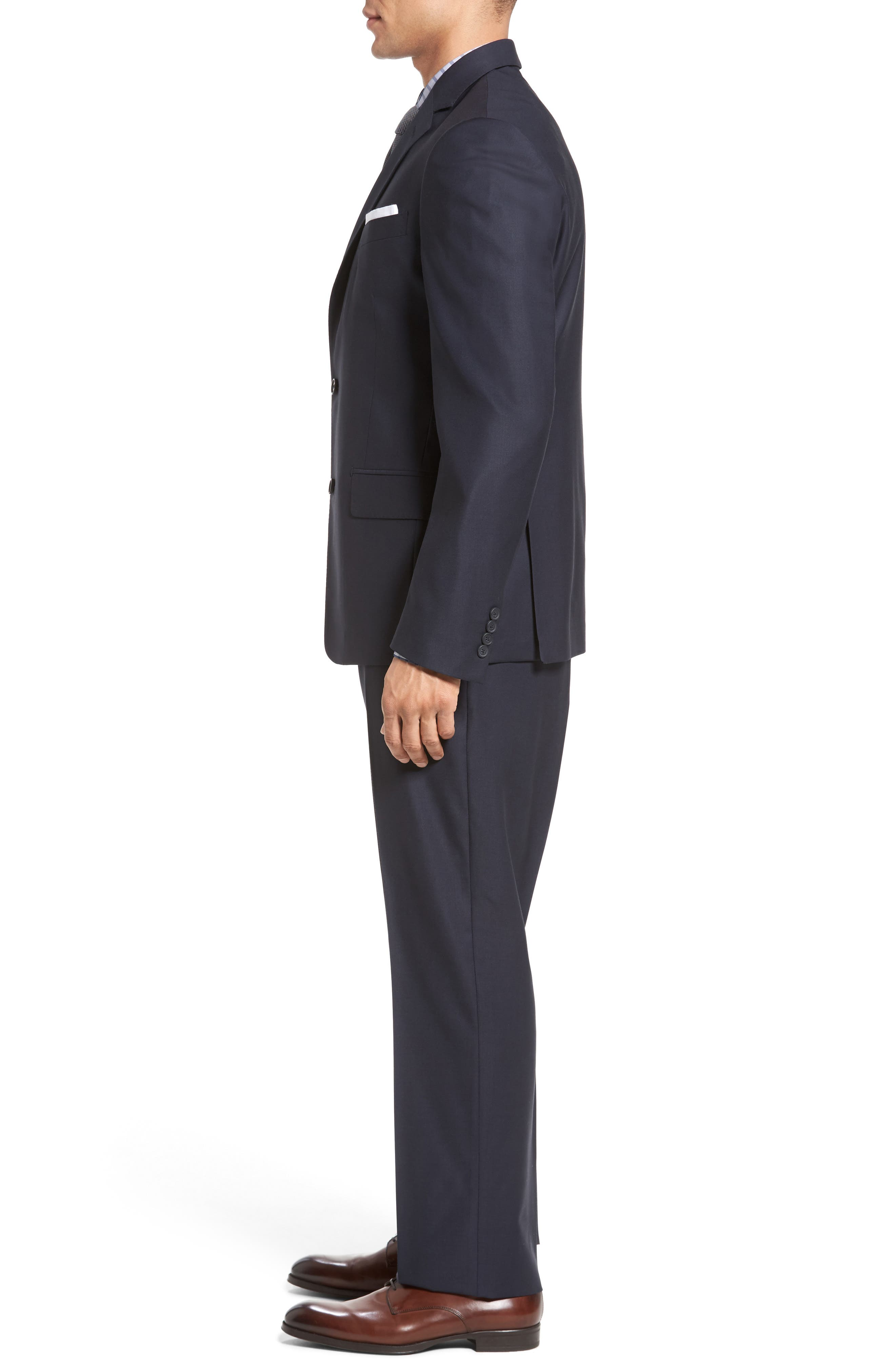 Classic Fit Solid Wool Suit,                             Alternate thumbnail 18, color,