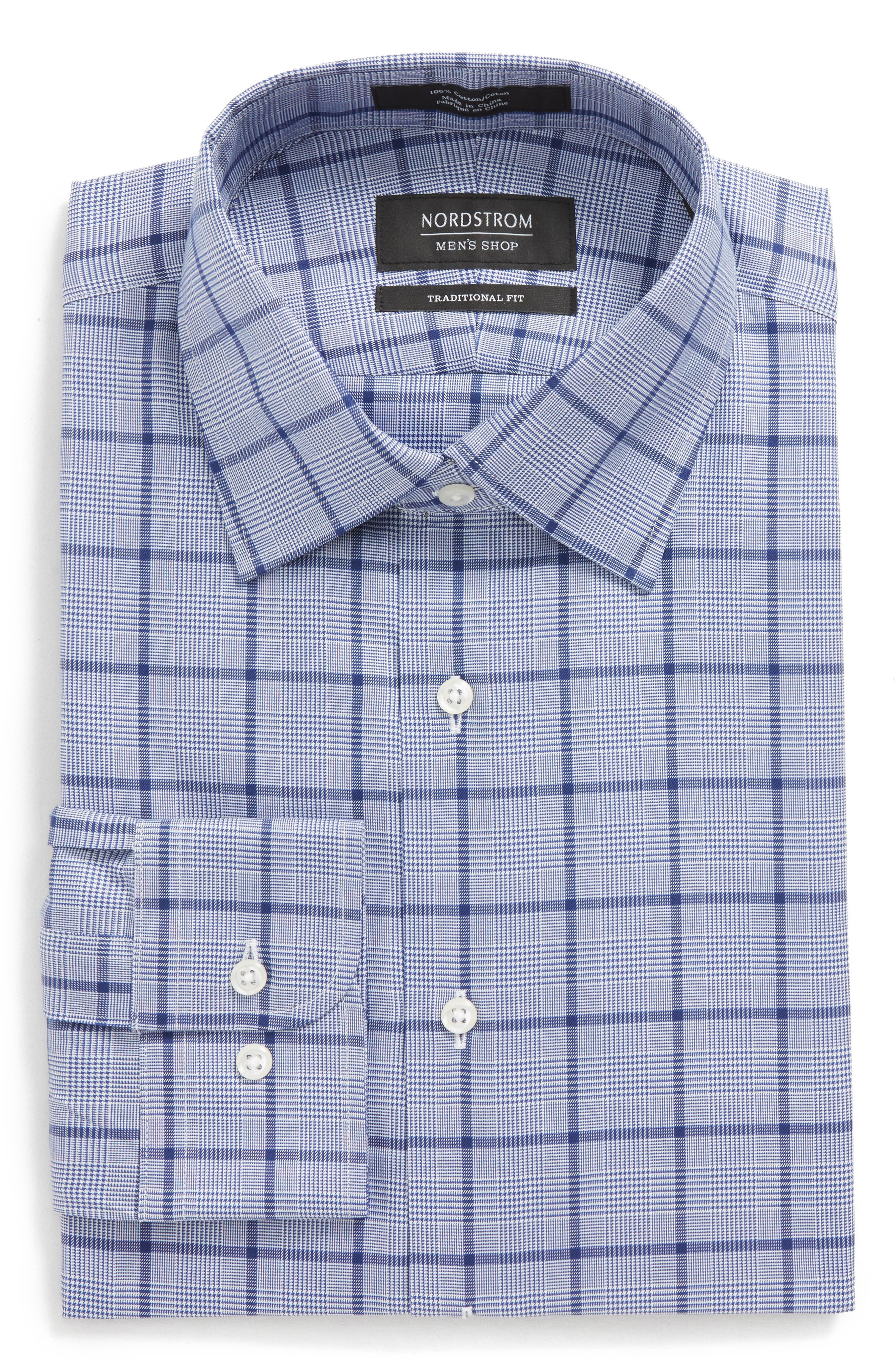 Traditional Fit Check Dress Shirt,                             Alternate thumbnail 5, color,                             420