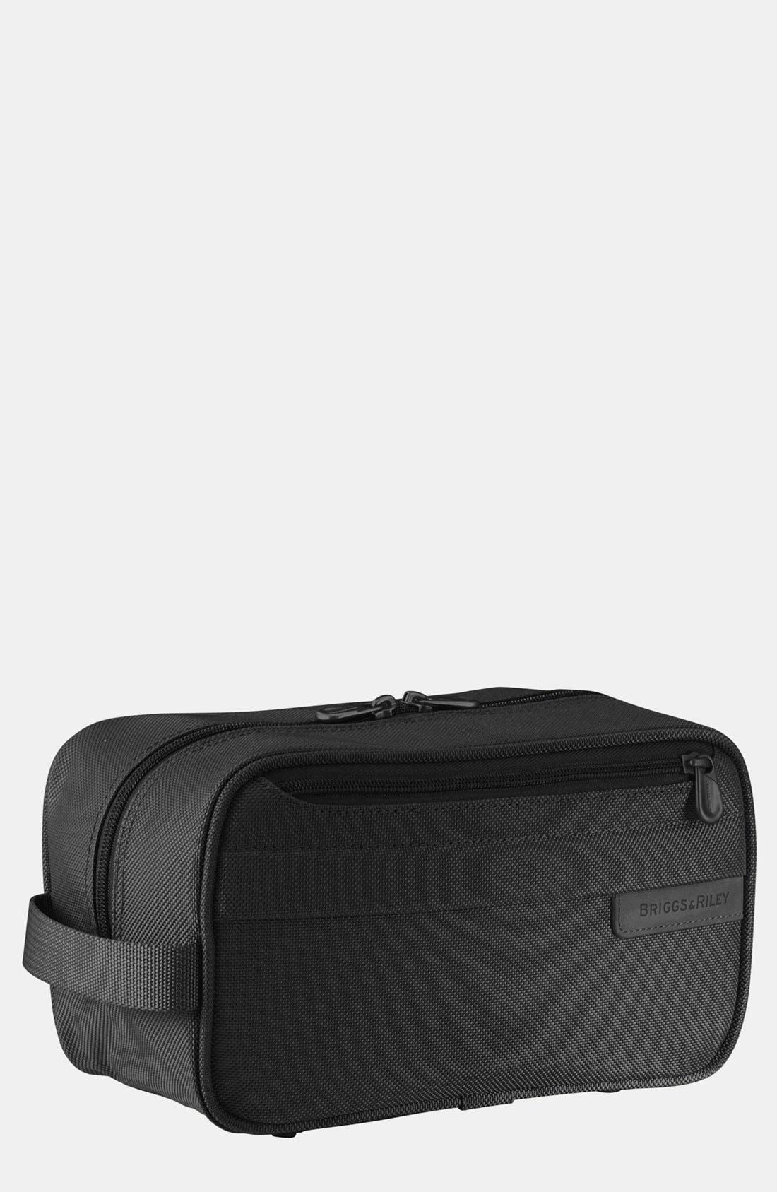BRIGGS & RILEY 'Baseline' Travel Kit, Main, color, BLACK
