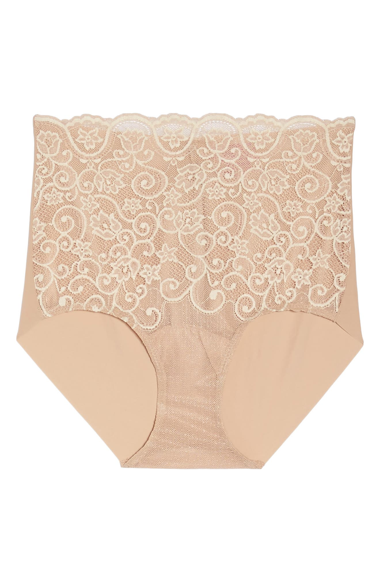 'Double Take' Lace Front High Rise Panties,                             Alternate thumbnail 6, color,