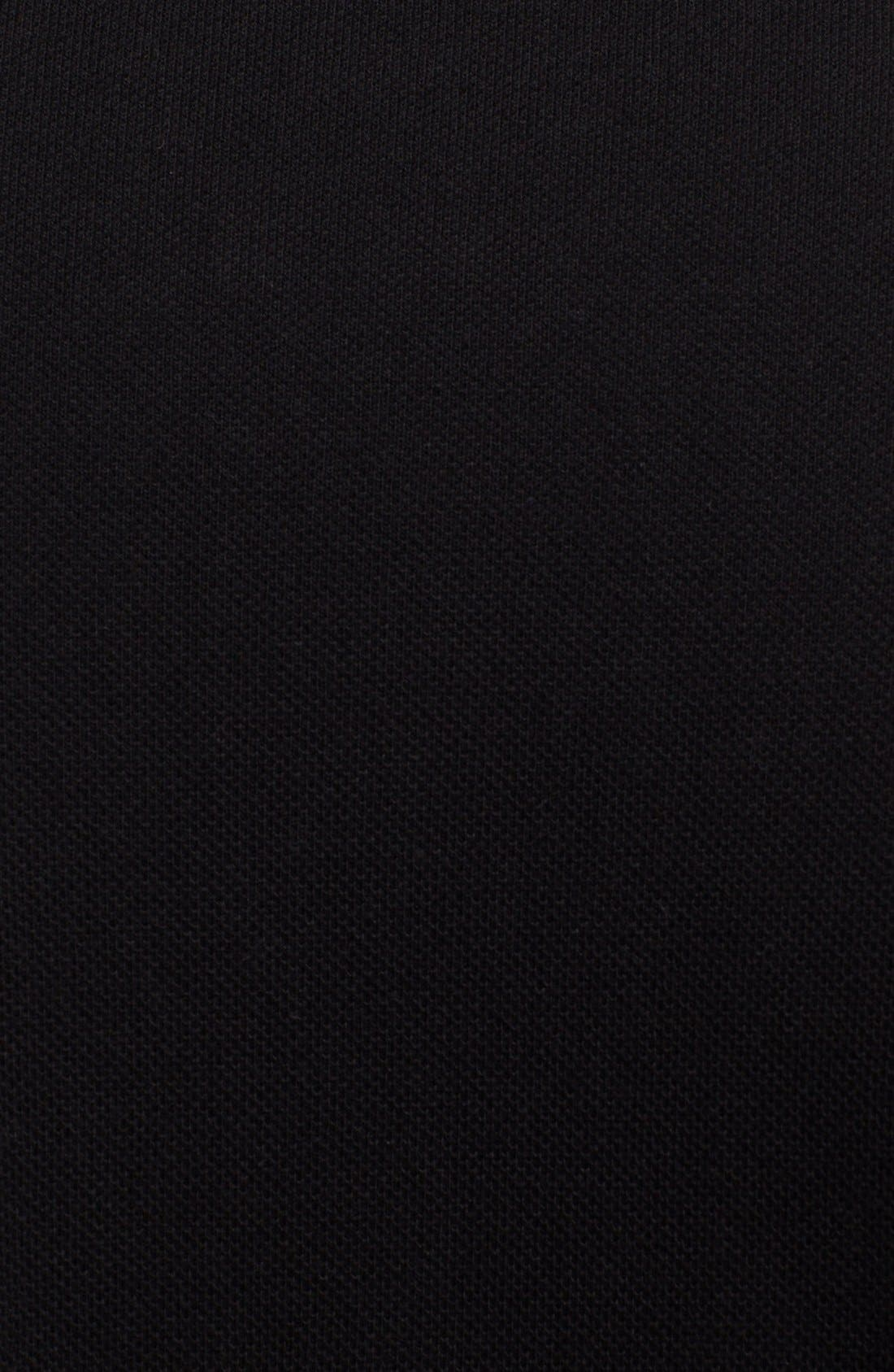 Piqué Polo with Heart Appliqué,                             Alternate thumbnail 2, color,                             BLACK