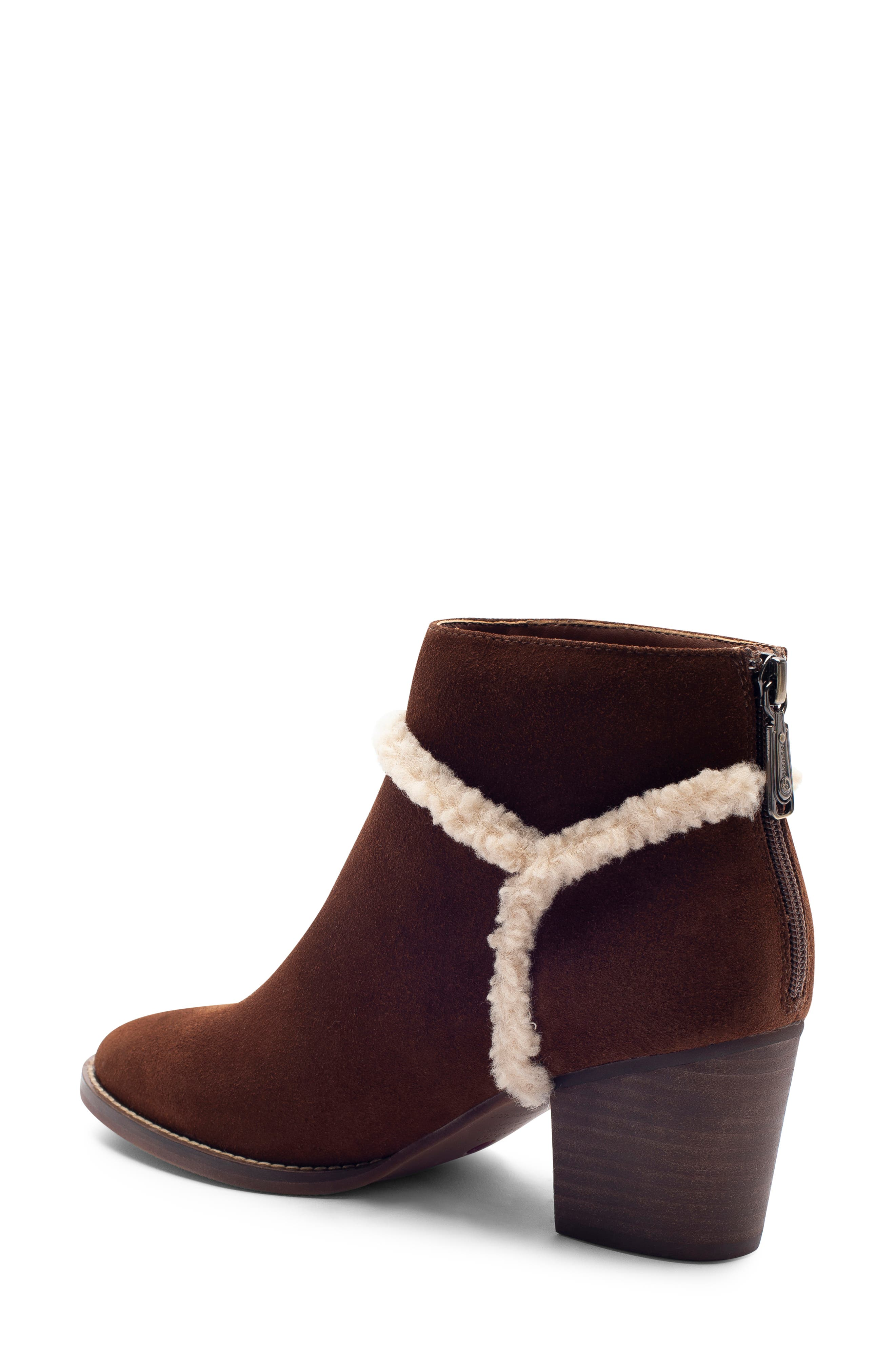 Netti Waterproof Bootie,                             Alternate thumbnail 2, color,                             CHESTNUT SUEDE