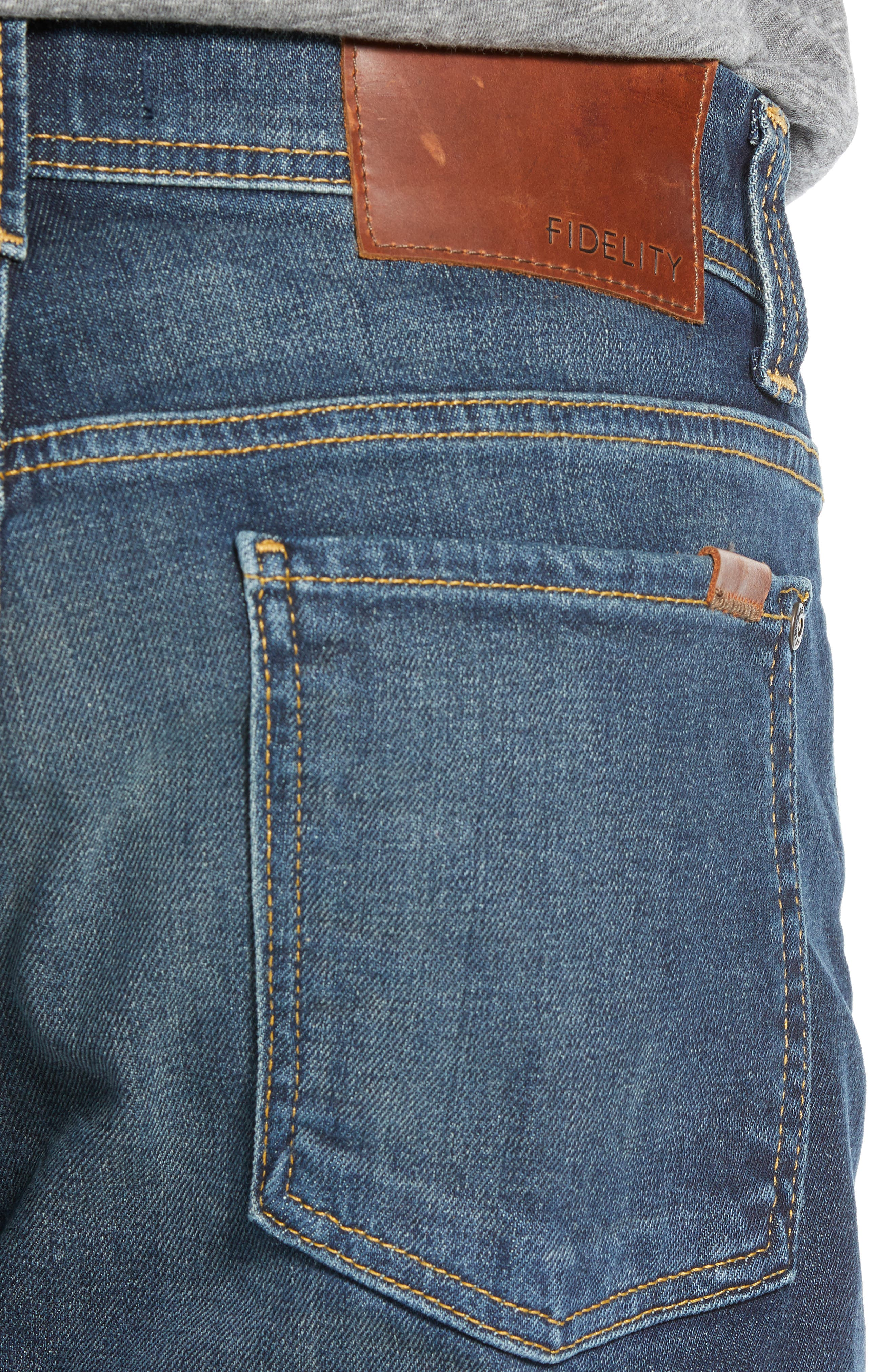 Jimmy Slim Straight Leg Jeans,                             Alternate thumbnail 4, color,                             NIAGARA