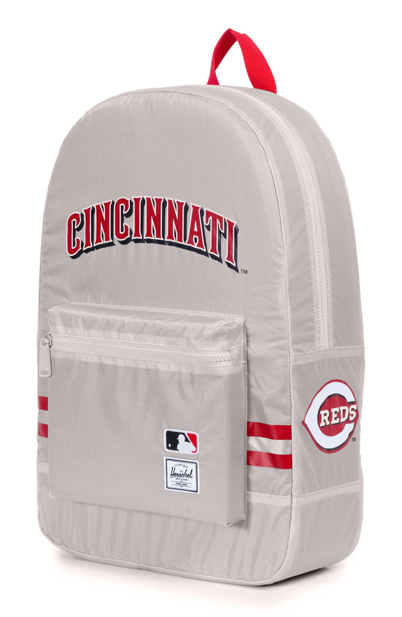 Packable - MLB National League Backpack,                             Alternate thumbnail 3, color,                             CINCINNATI REDS