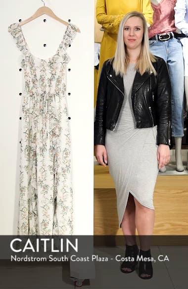 Isabella Floral Stripe Cross Back Maxi Dress, sales video thumbnail