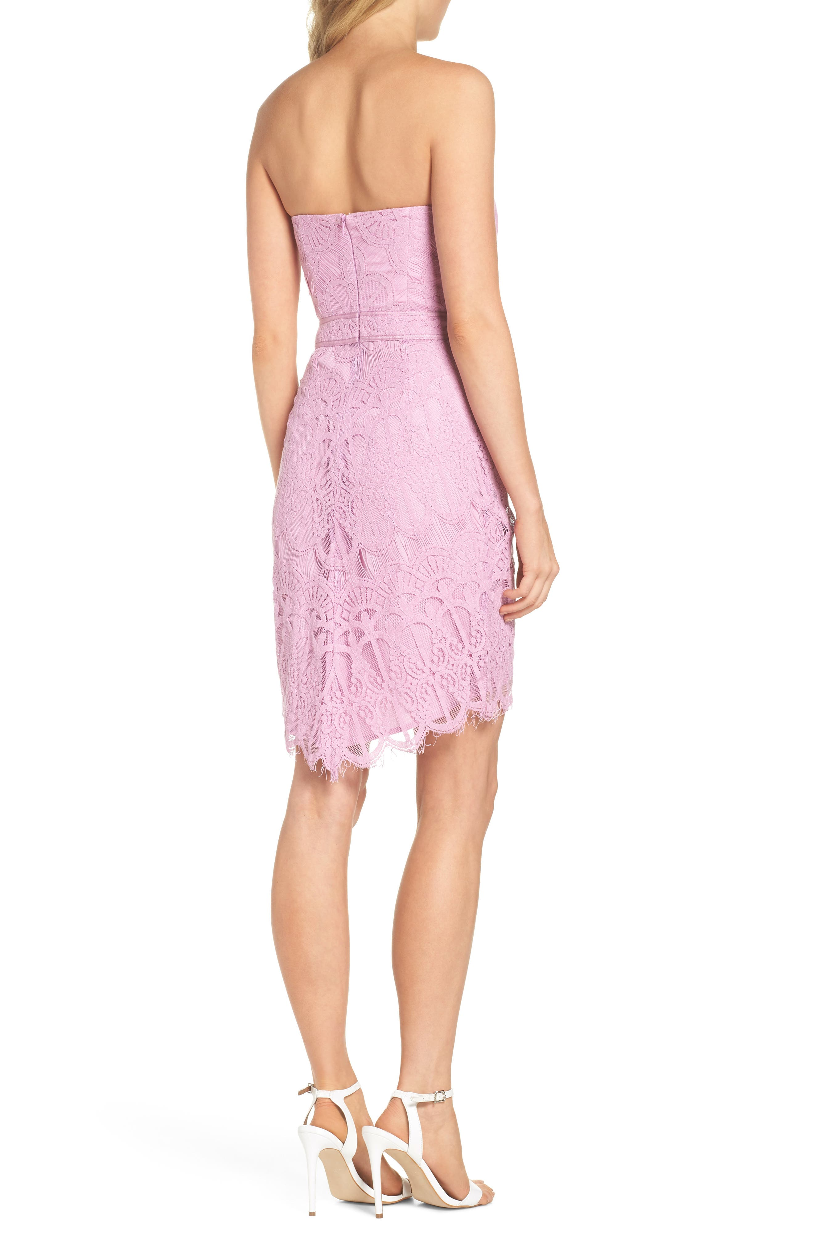 Strapless Lace Dress,                             Alternate thumbnail 2, color,                             532
