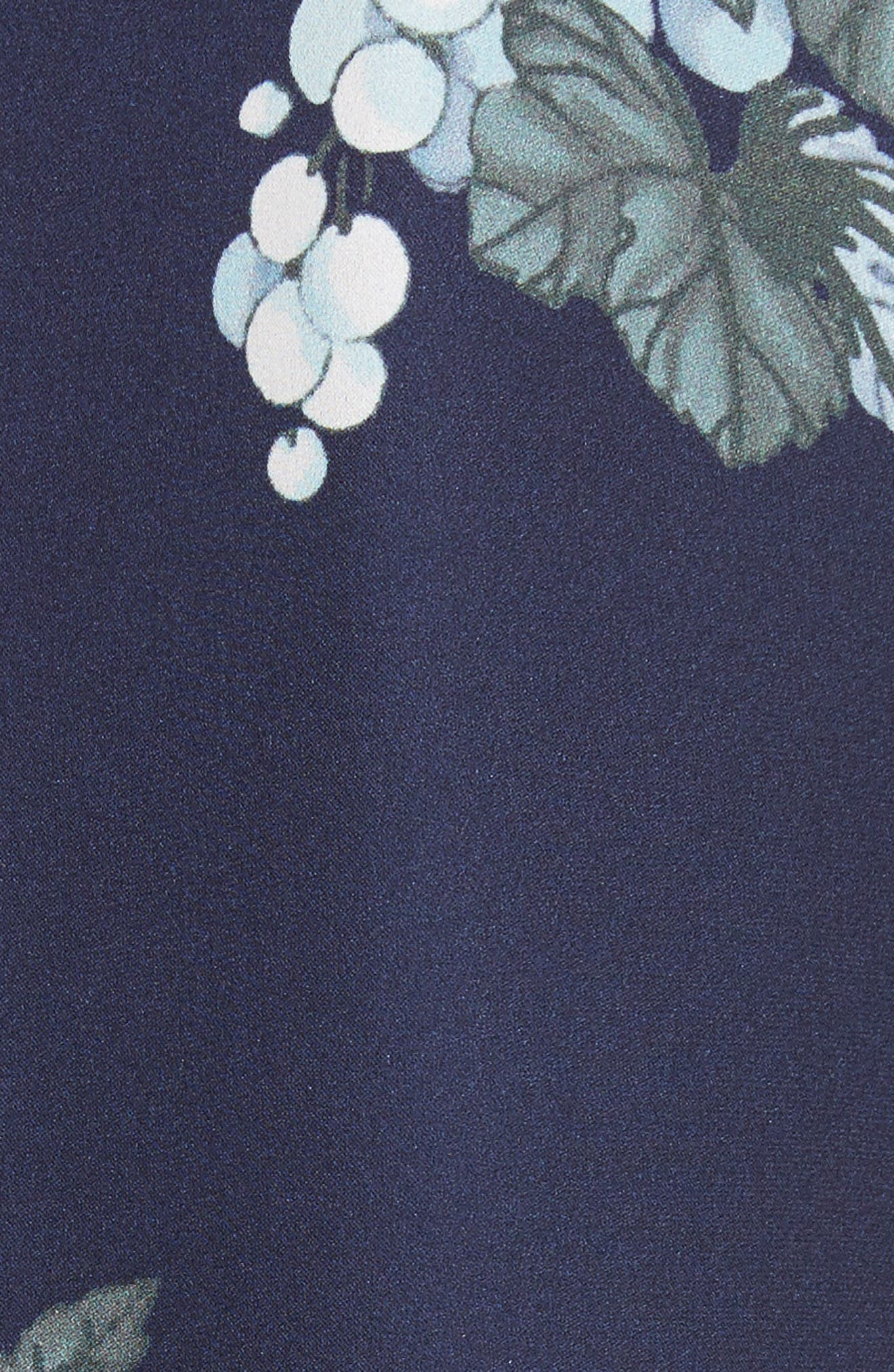 Amaranda Print Silk Shirtdress,                             Alternate thumbnail 5, color,                             402
