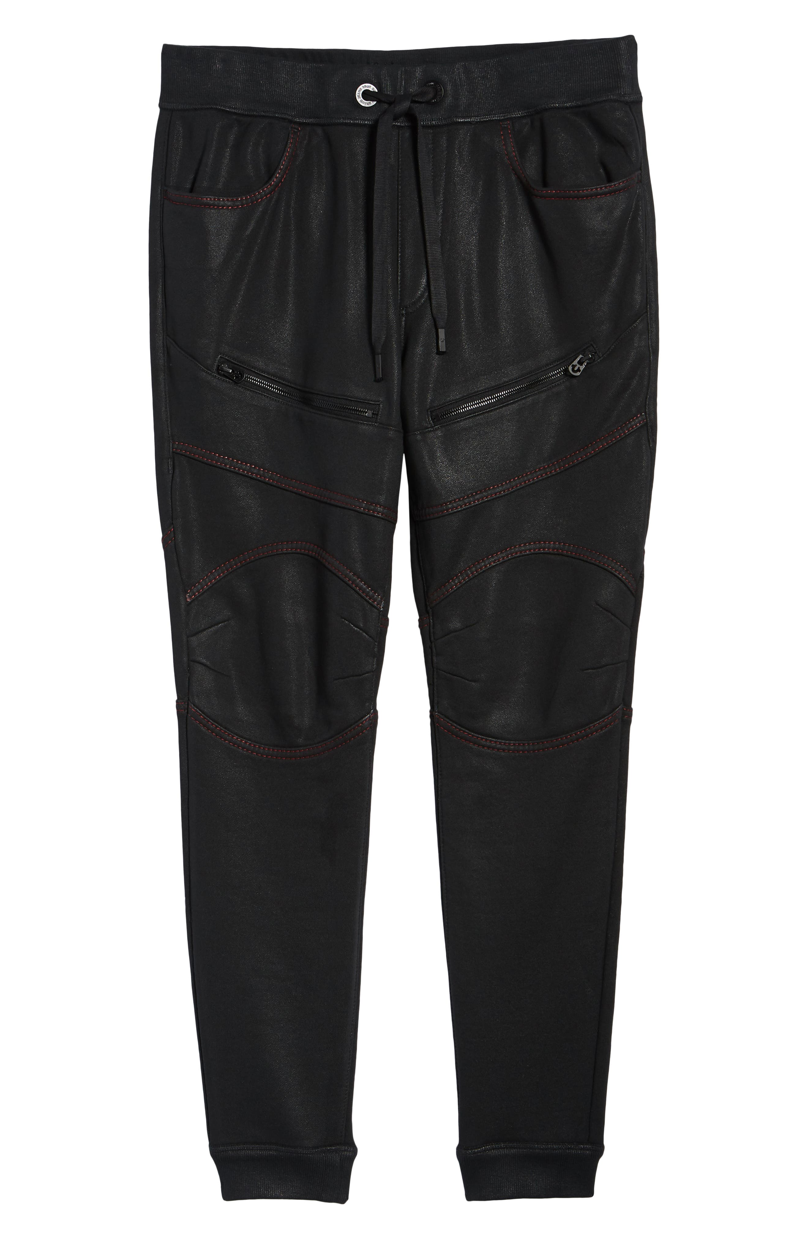 Moto Active Sweatpants,                             Alternate thumbnail 6, color,                             TRUE BLACK