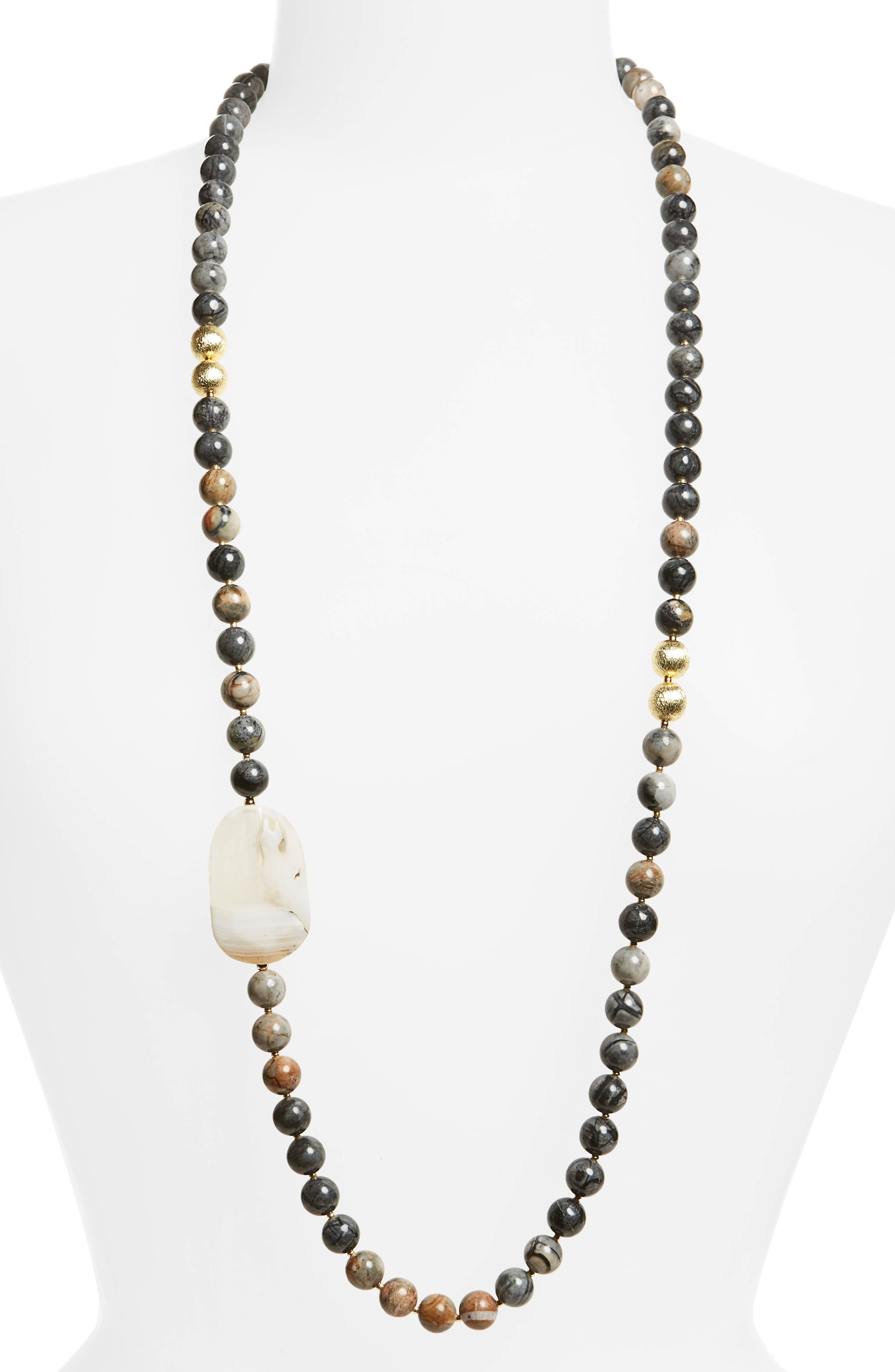 Love's Affect Addison Semiprecious Station Necklace,                             Main thumbnail 1, color,                             200