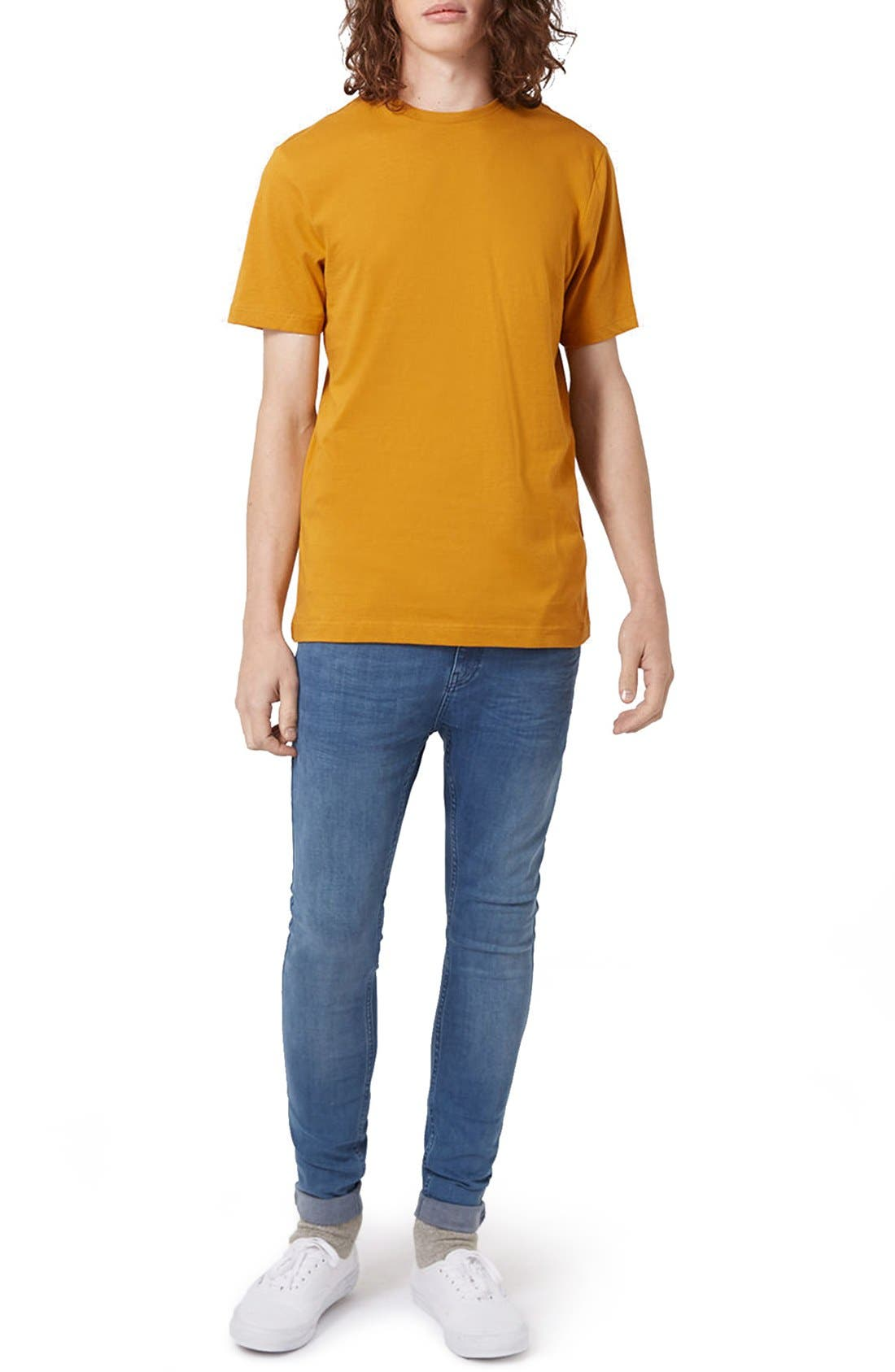 Slim Fit Crewneck T-Shirt,                             Alternate thumbnail 435, color,