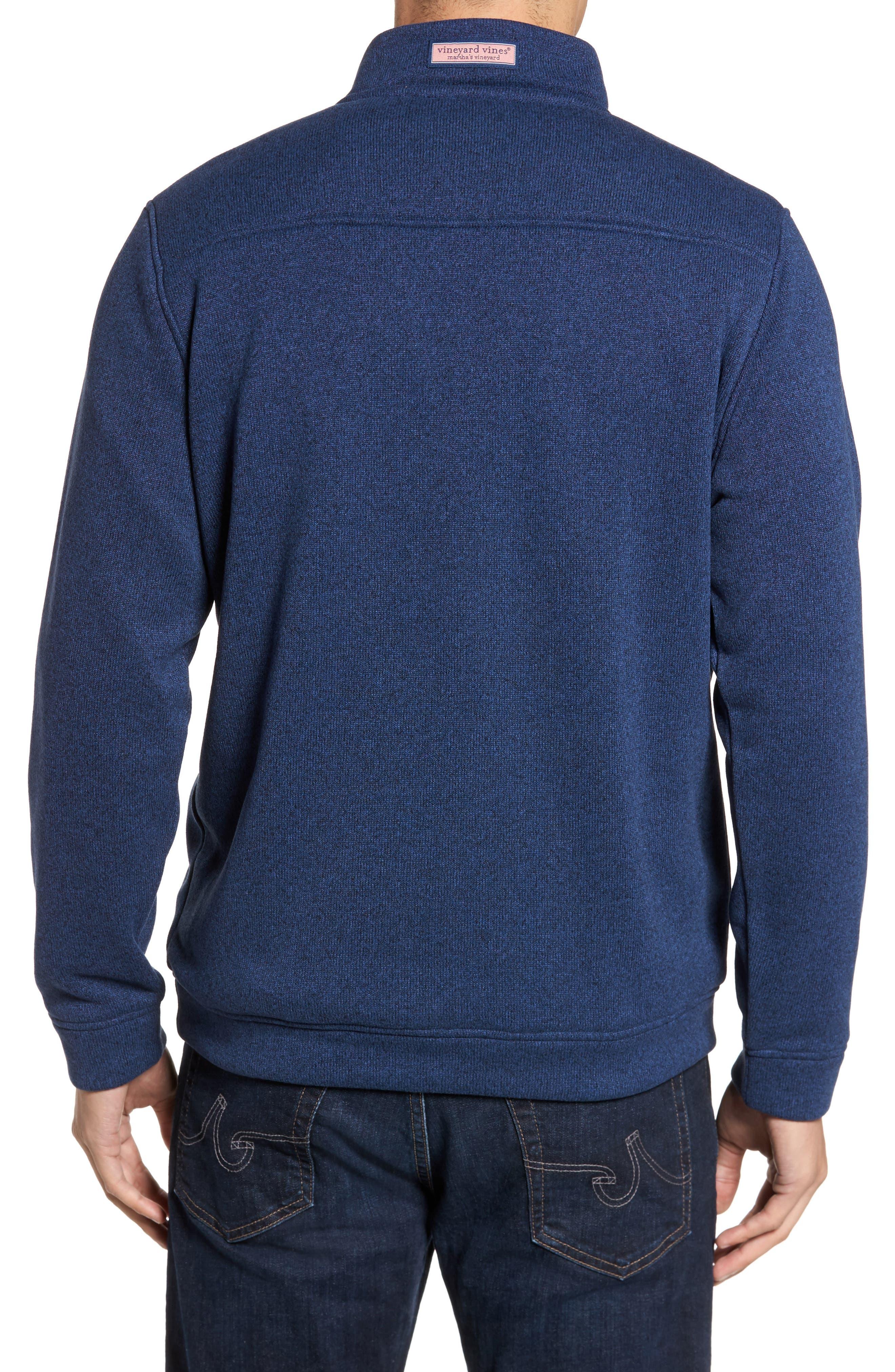 Shep Sweater Fleece Quarter Zip Pullover,                             Alternate thumbnail 4, color,
