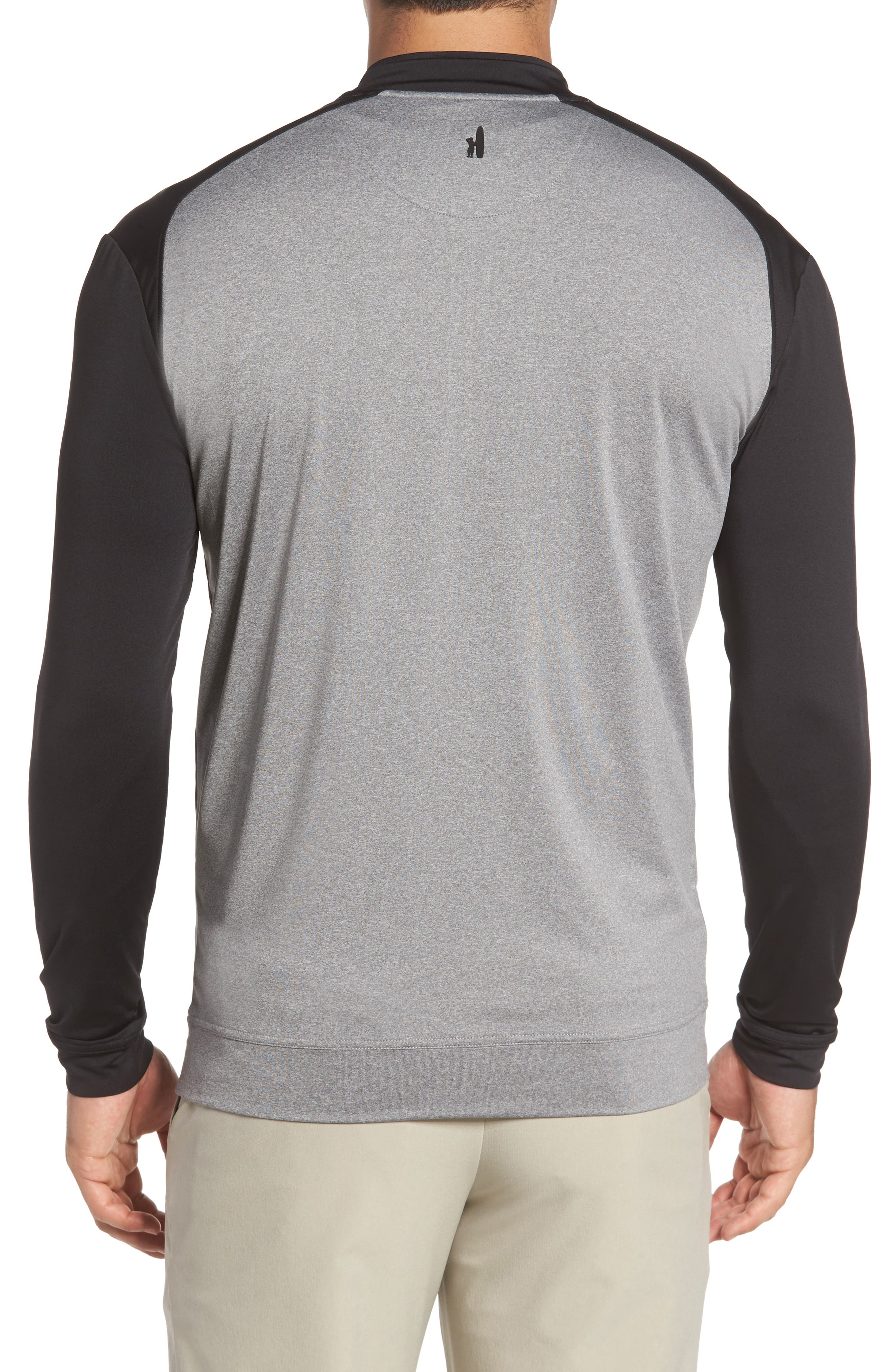 Sway Classic Fit Zip Raglan Pullover,                             Alternate thumbnail 2, color,                             001