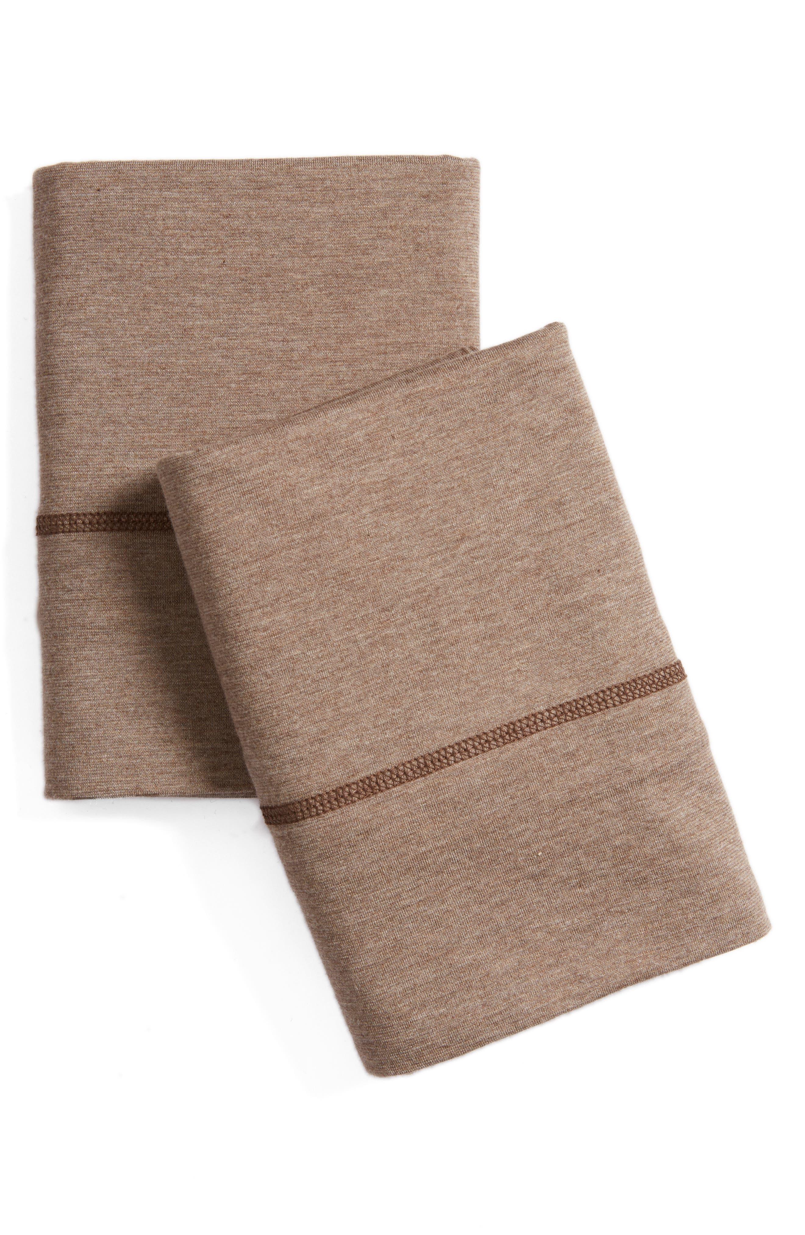 Cotton & Modal Jersey Pillowcases,                             Main thumbnail 2, color,