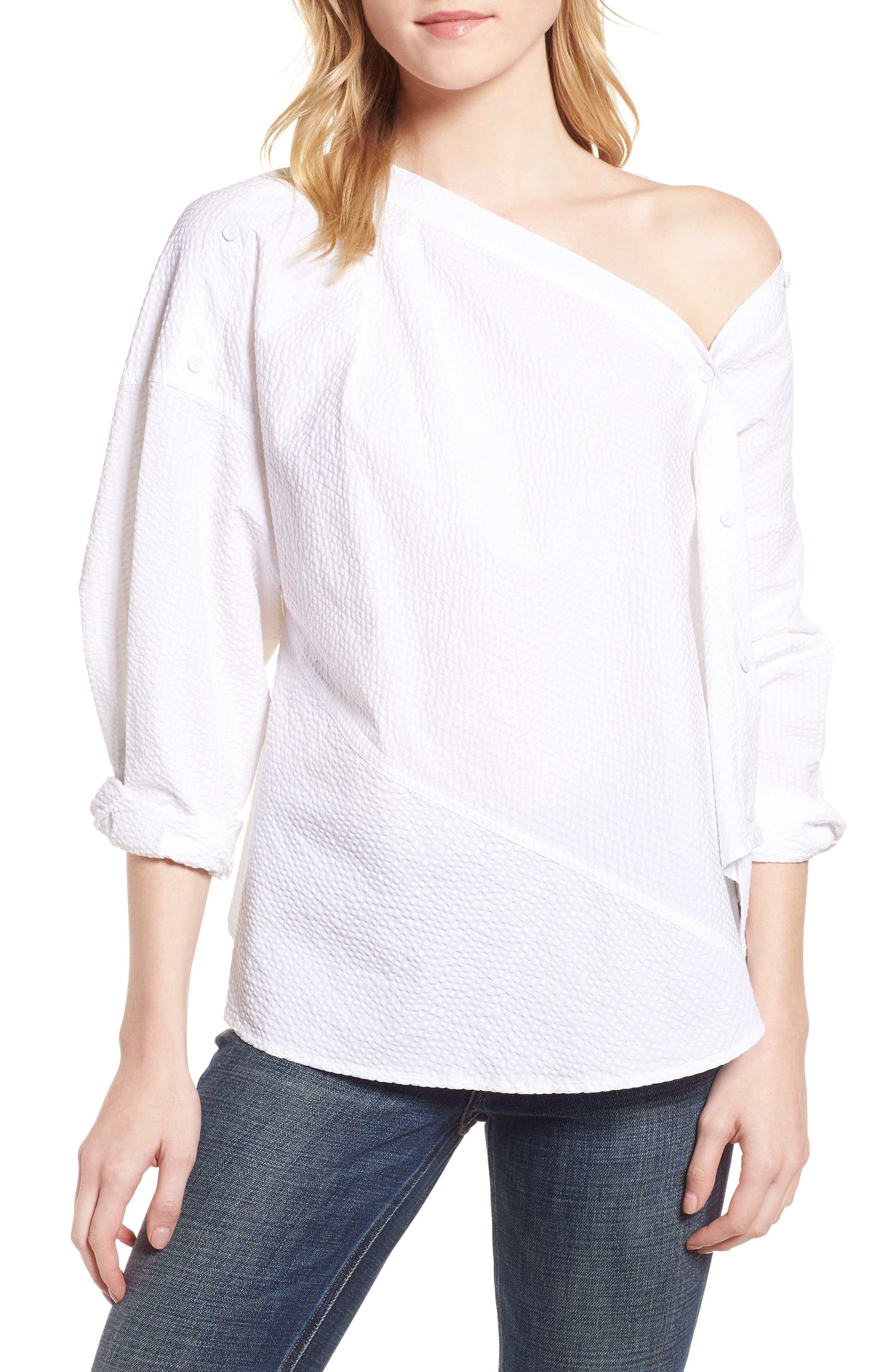 Daphne One Shoulder Cotton Top,                         Main,                         color, 150