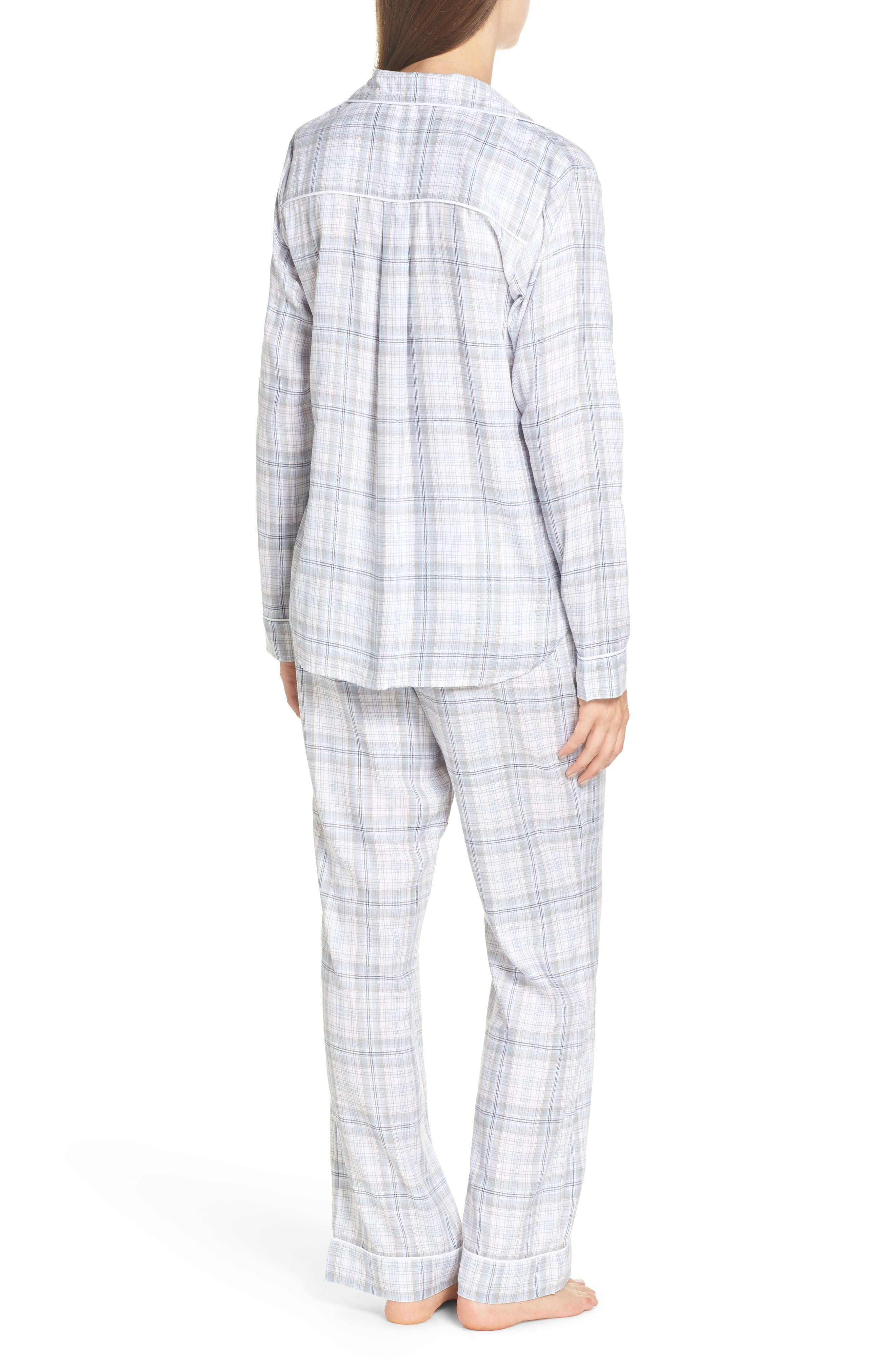 Raven Plaid Pajamas,                             Alternate thumbnail 2, color,                             453