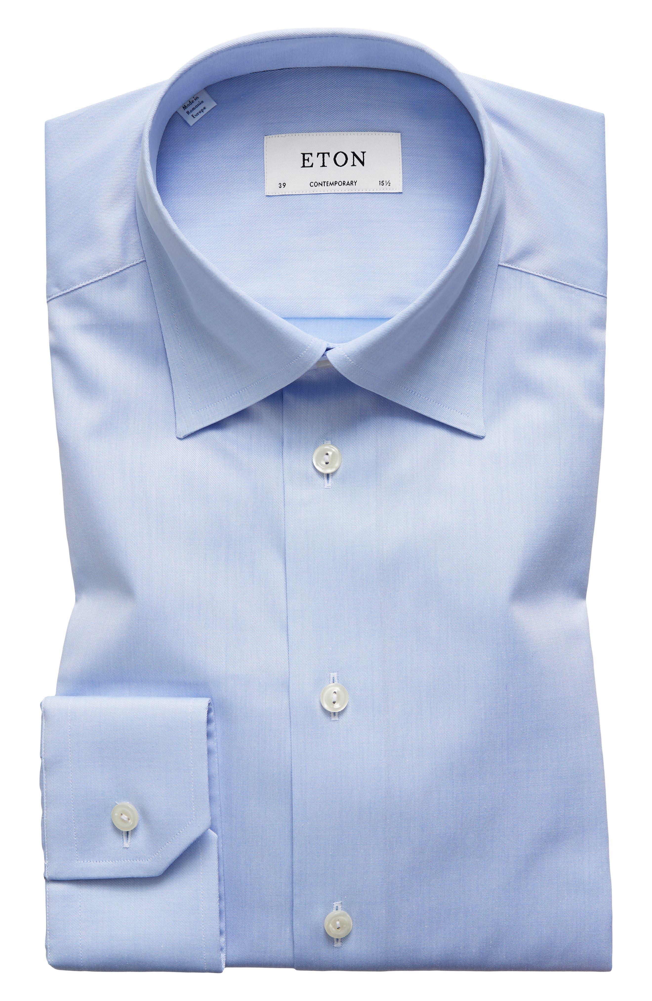 Contemporary Fit Solid Dress Shirt,                             Main thumbnail 1, color,                             LIGHT BLUE