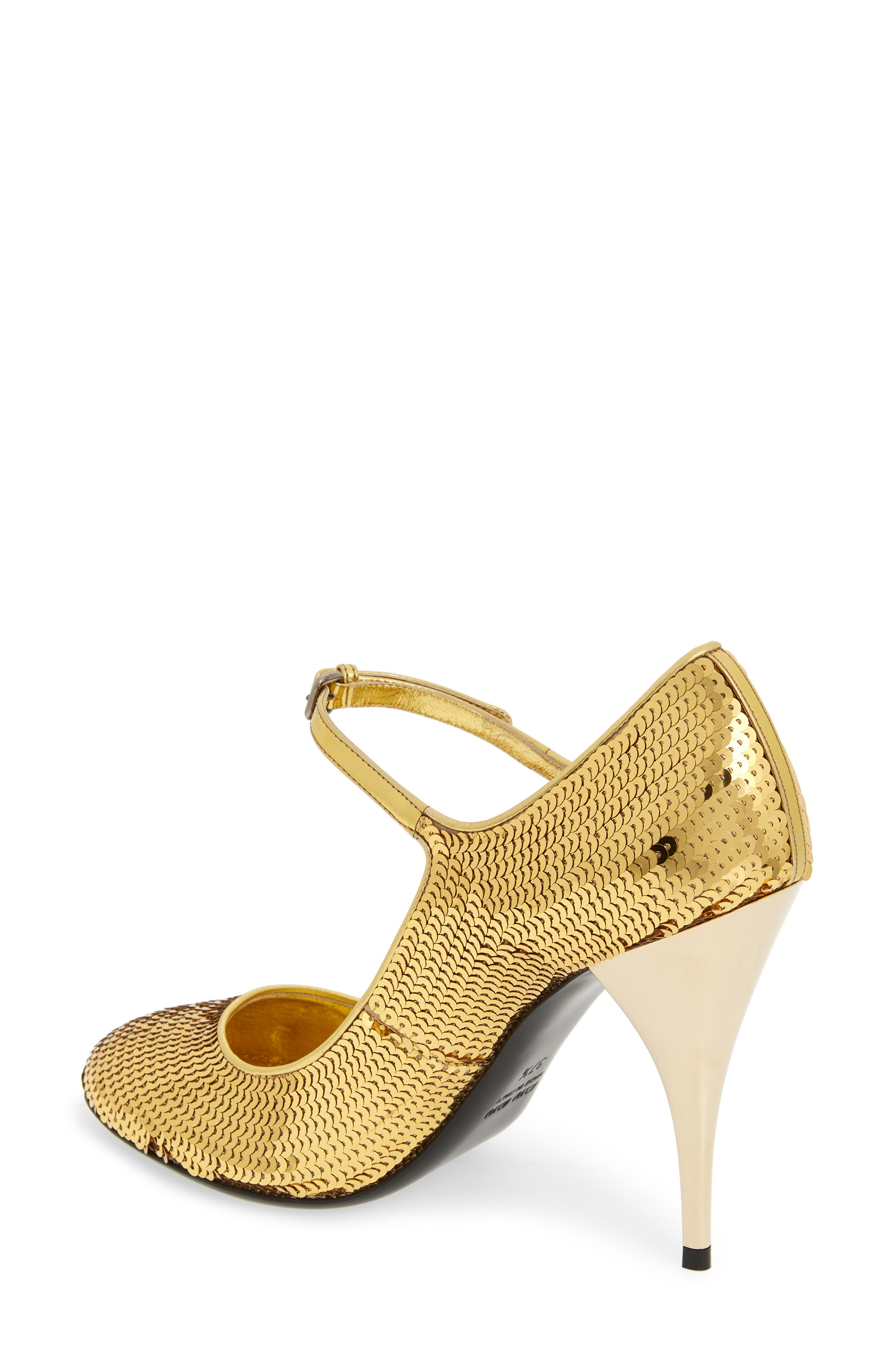 Sequin Mary Jane Pump,                             Alternate thumbnail 2, color,                             GOLD