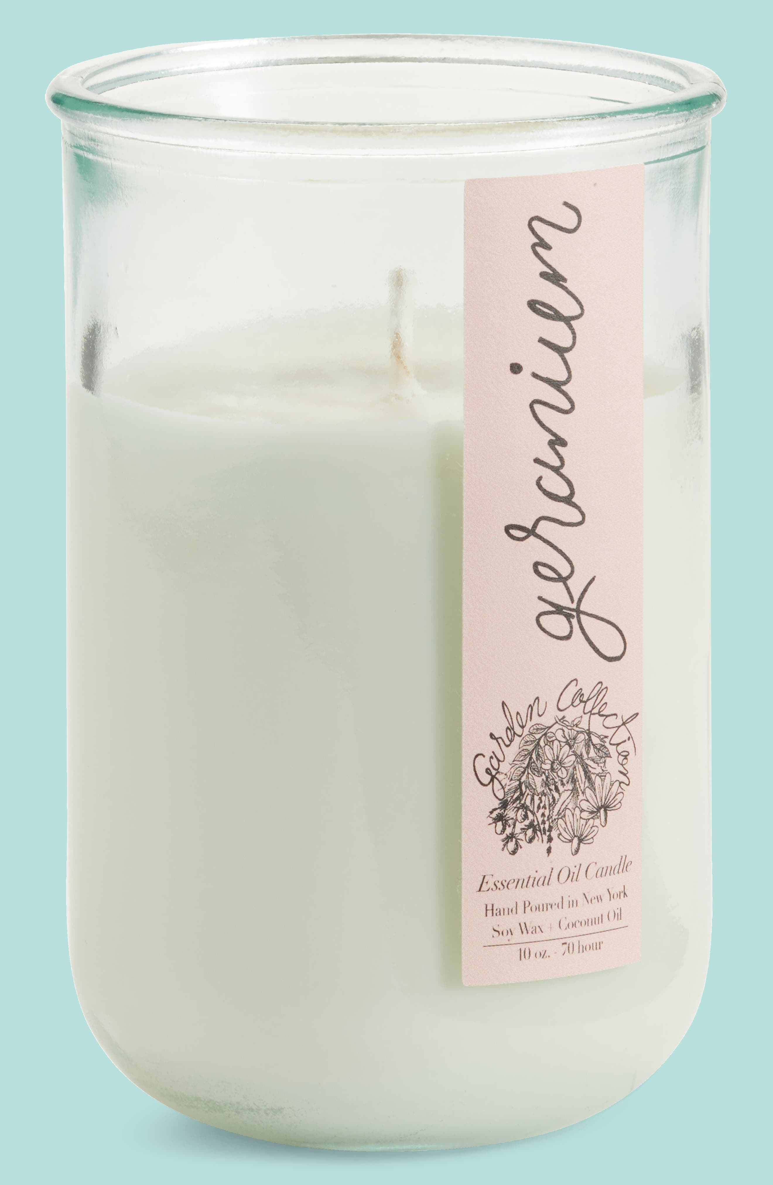 Geranium Essential Oil Candle with Organic Seed Pack,                         Main,                         color, 650