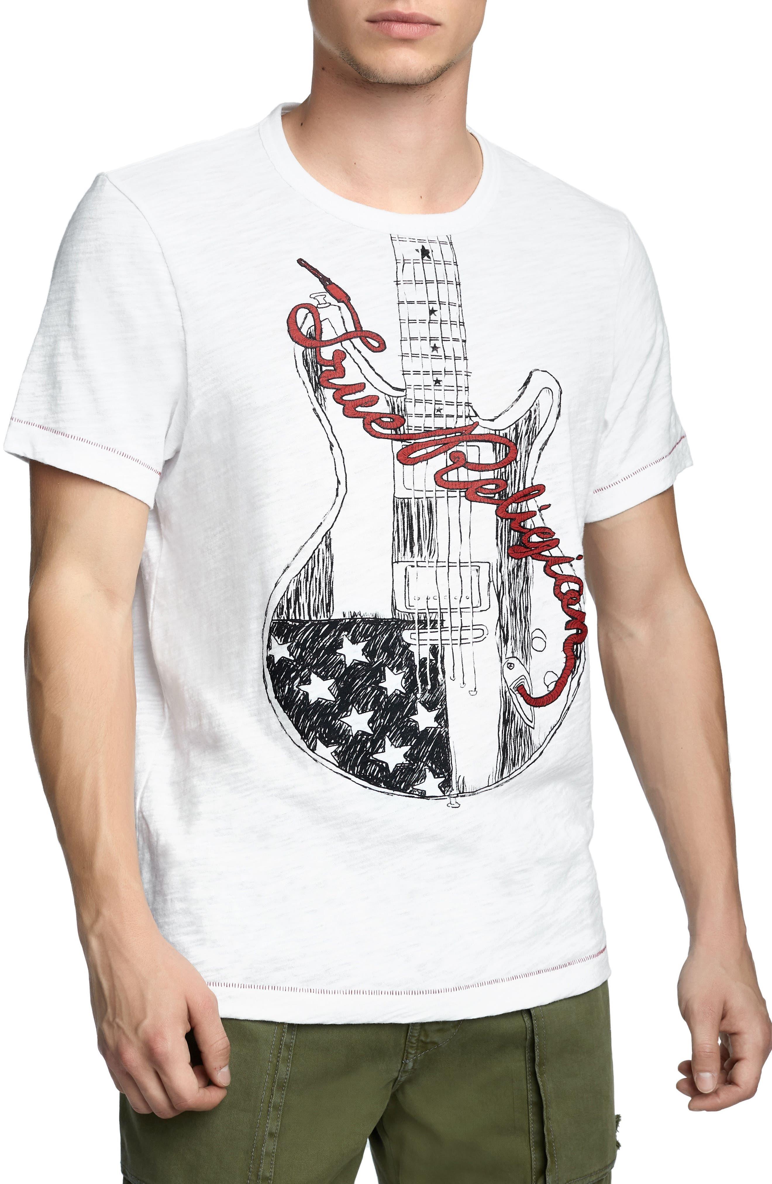 Puff Guitar T-Shirt,                             Main thumbnail 1, color,                             100