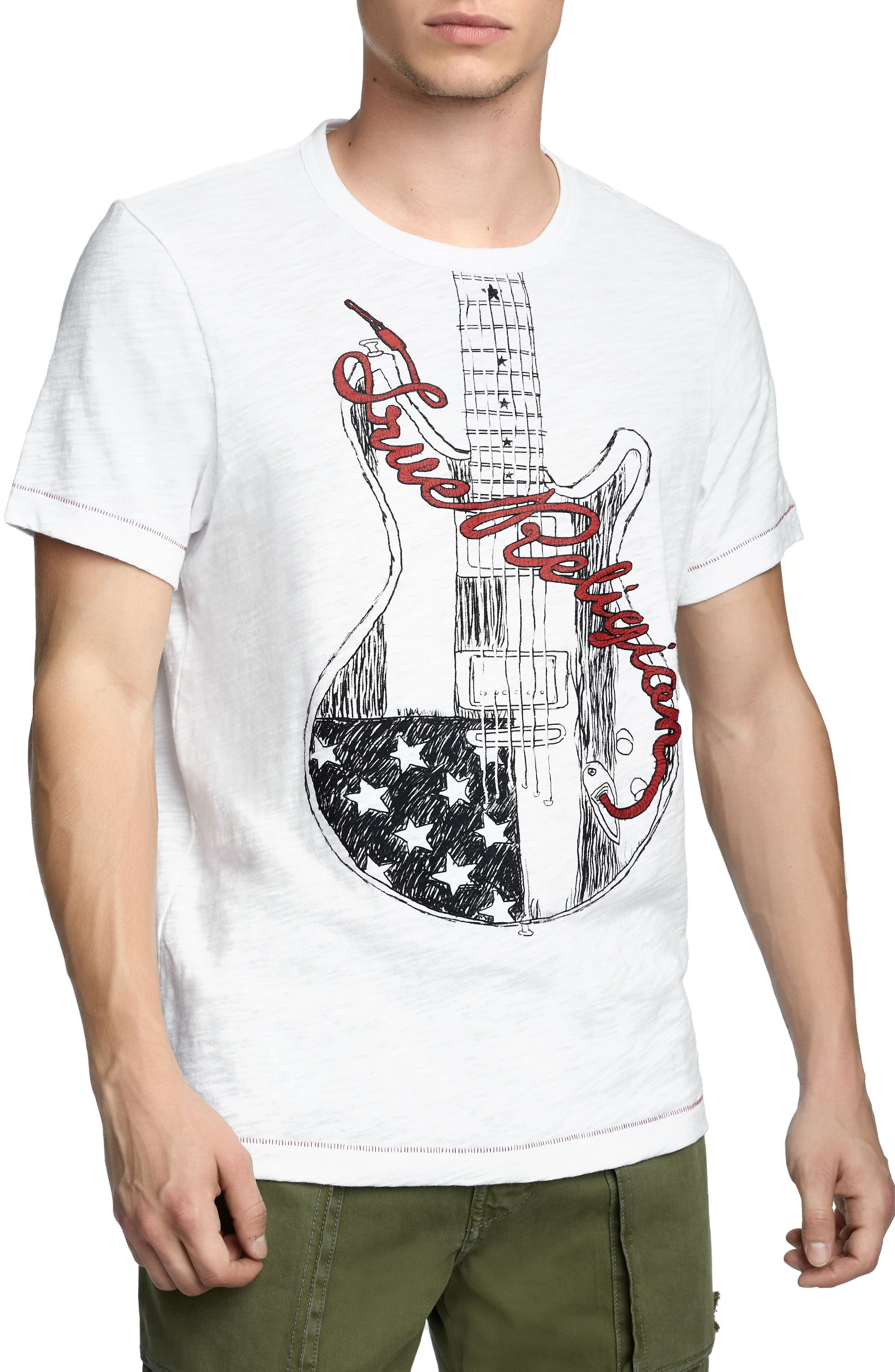 Puff Guitar T-Shirt,                         Main,                         color, 100