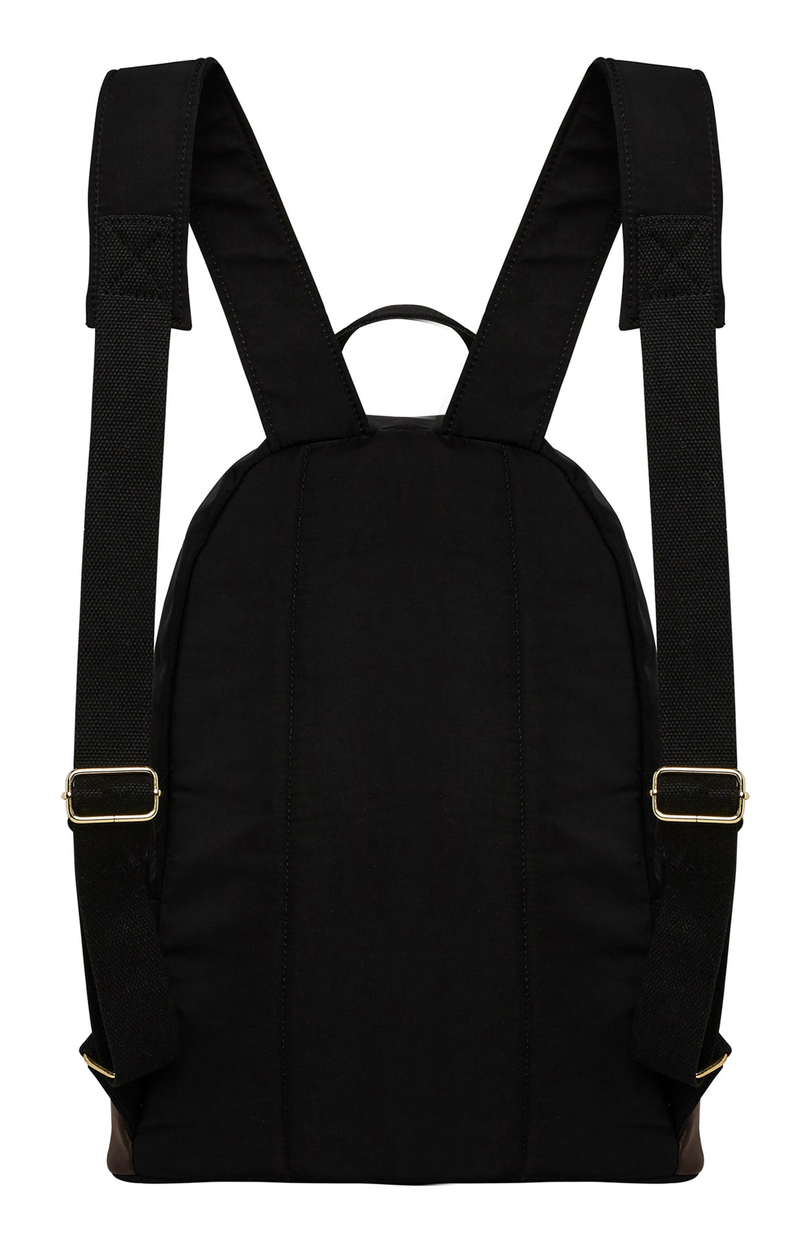 Own Beat Vegan Leather Backpack,                             Alternate thumbnail 2, color,                             001