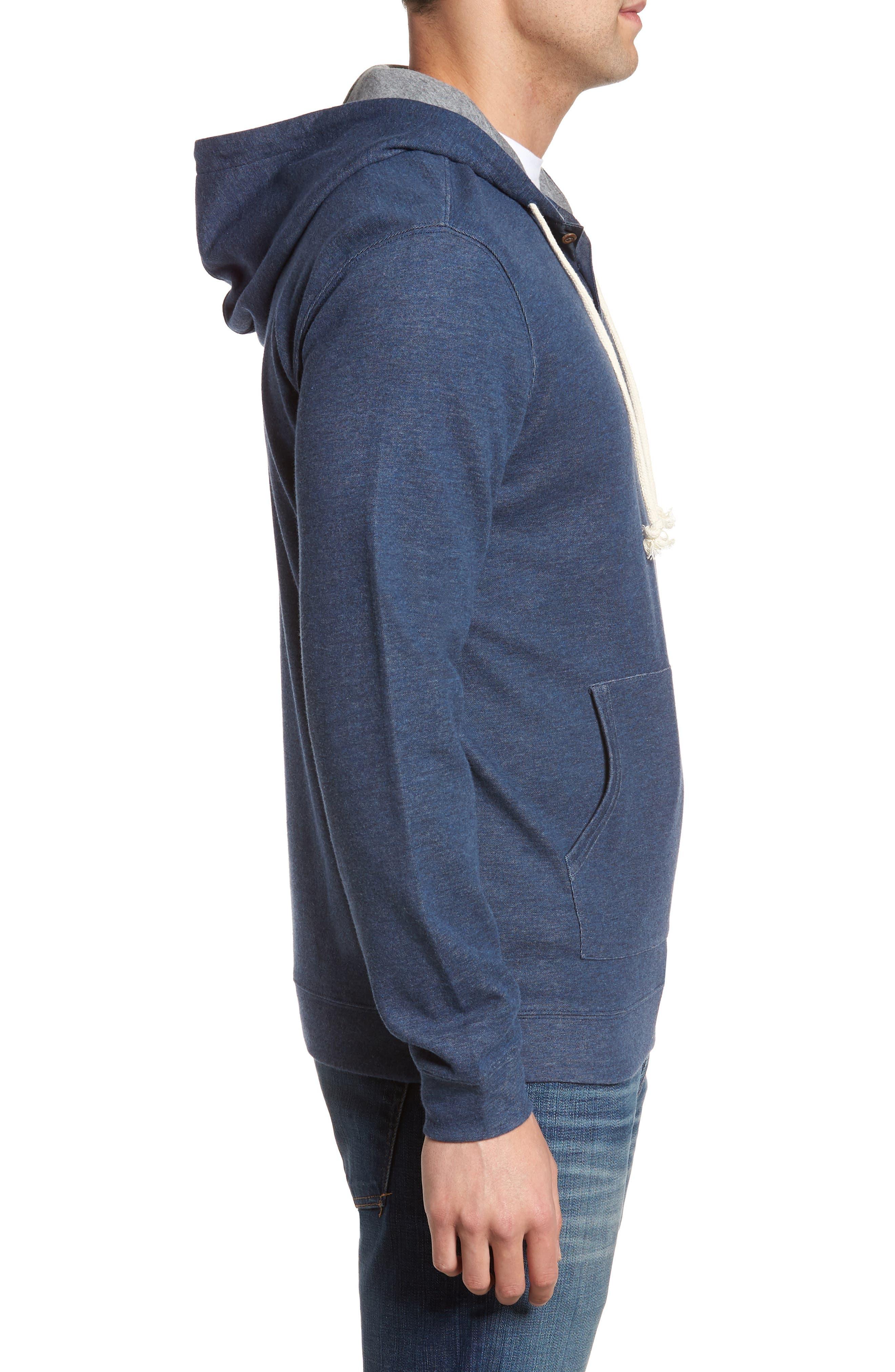 Layton Regular Fit Pullover Hoodie,                             Alternate thumbnail 3, color,                             BLAZER