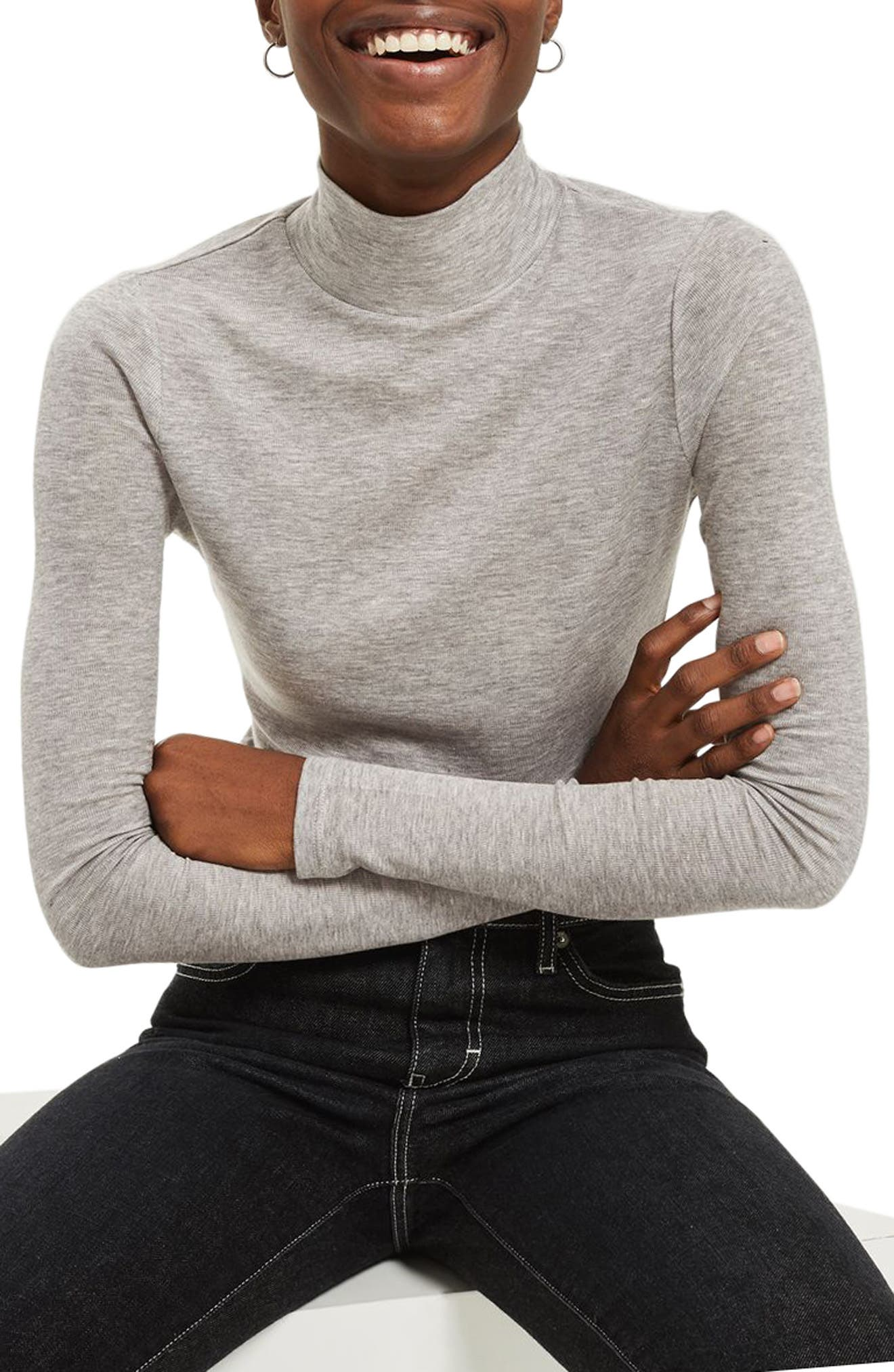 Ribbed Turtleneck Top,                             Alternate thumbnail 14, color,