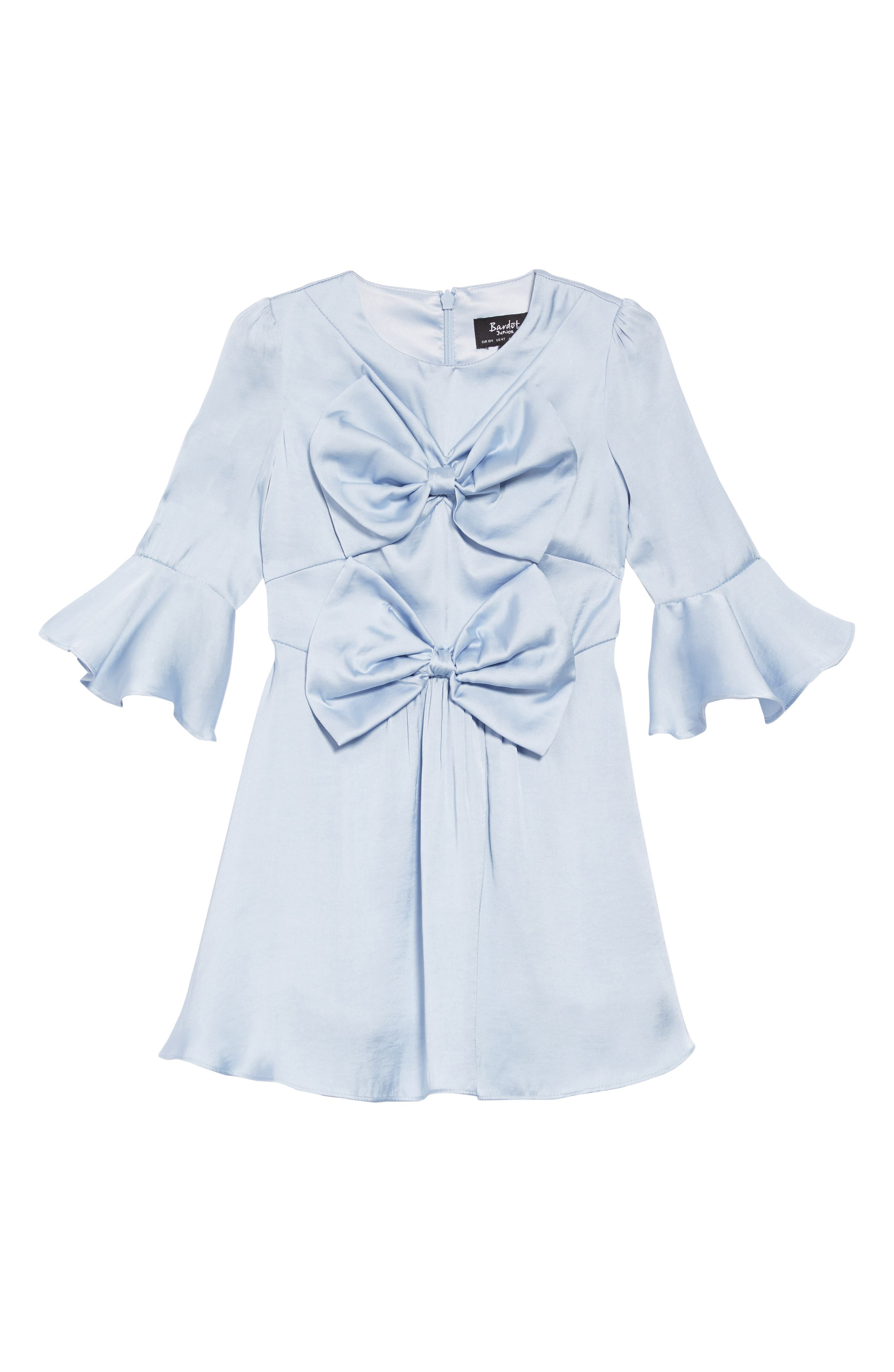 Gia Double Bow Dress,                             Main thumbnail 1, color,                             SKYWAY