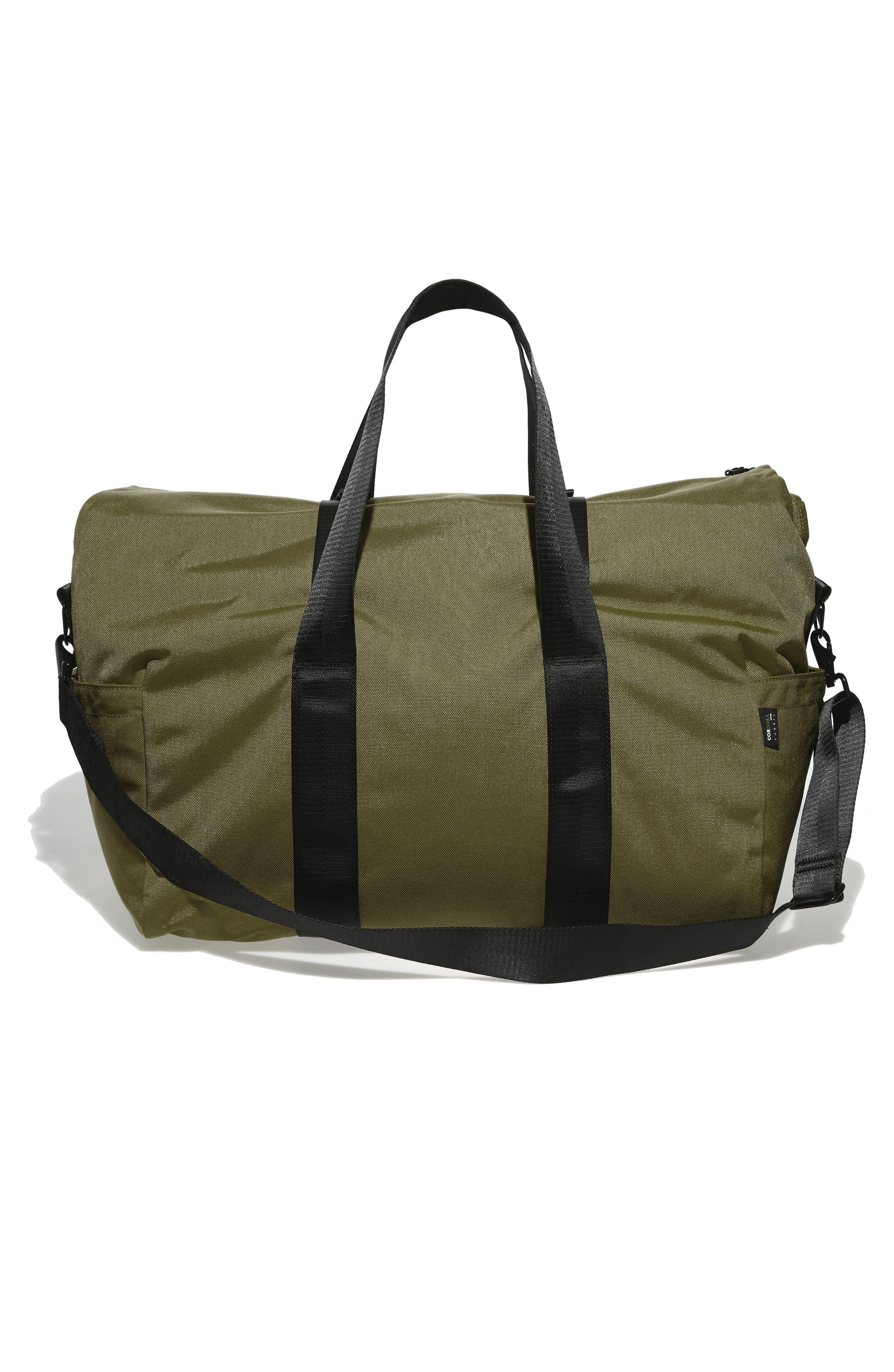 SWS 50L Roll Top Duffel Bag,                             Alternate thumbnail 3, color,                             OLIVE