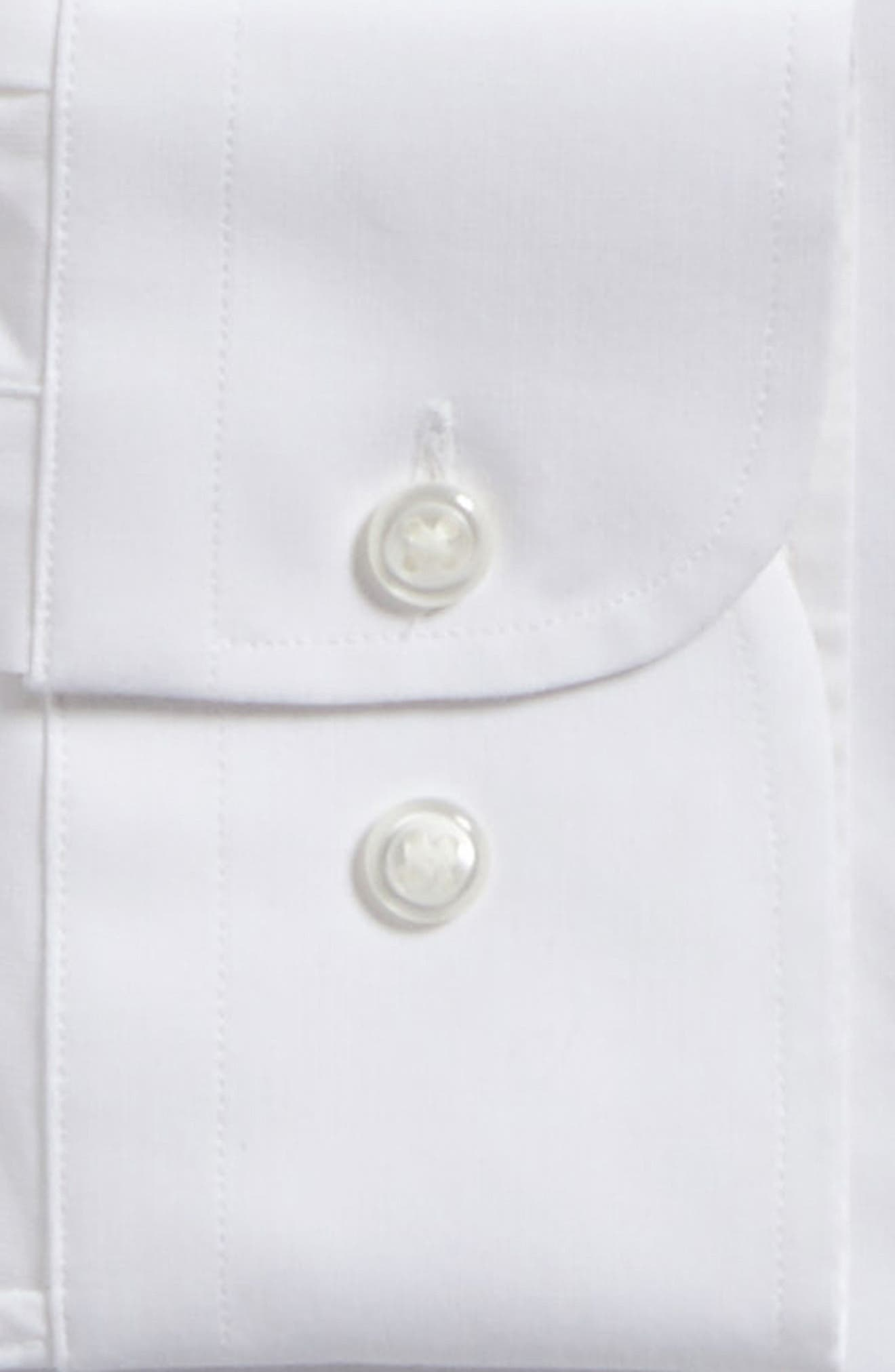 Tech-Smart Traditional Fit Stretch Pintpoint Dress Shirt,                             Alternate thumbnail 4, color,                             WHITE