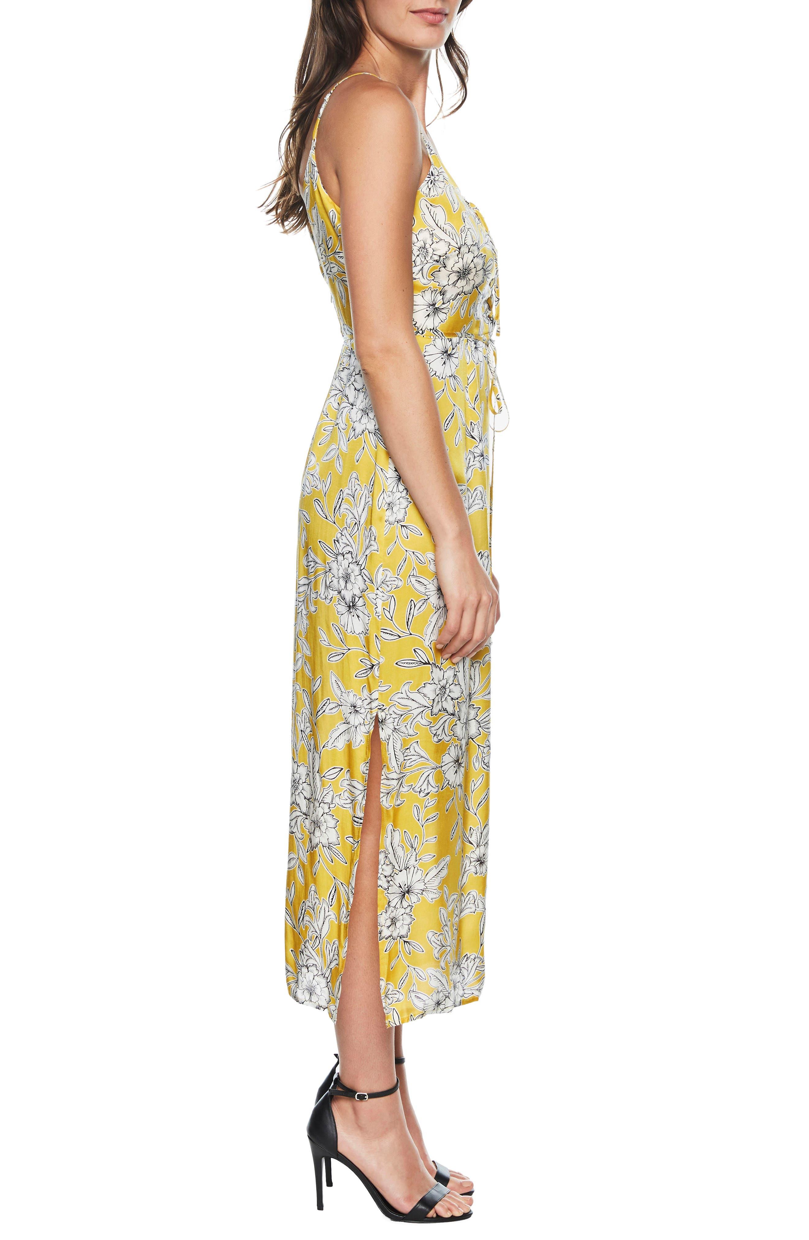 Karina Lace-Up Midi Dress,                             Alternate thumbnail 3, color,                             774
