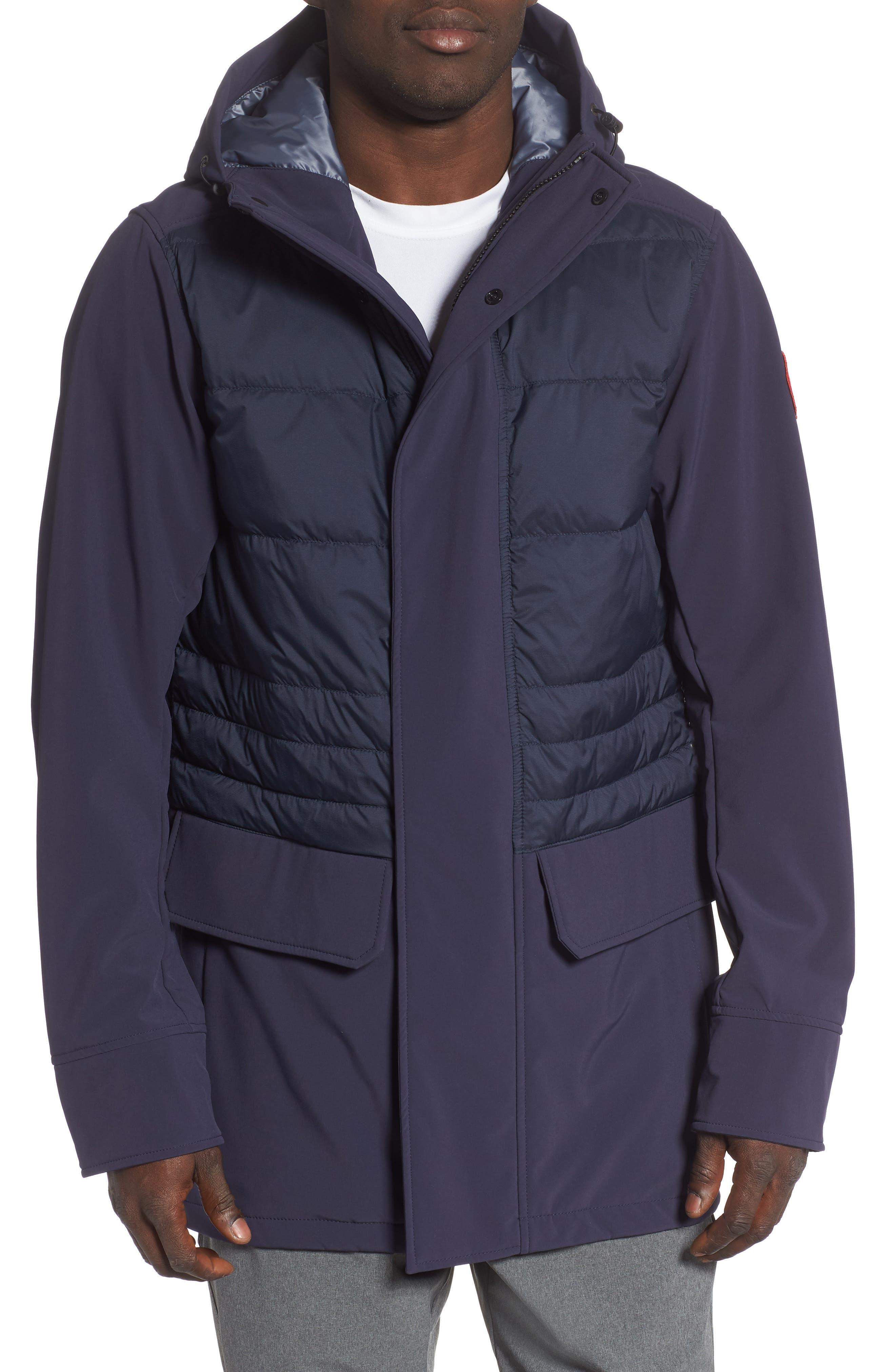 Canada Goose Breton 675-Fill Power Down Coat, Blue