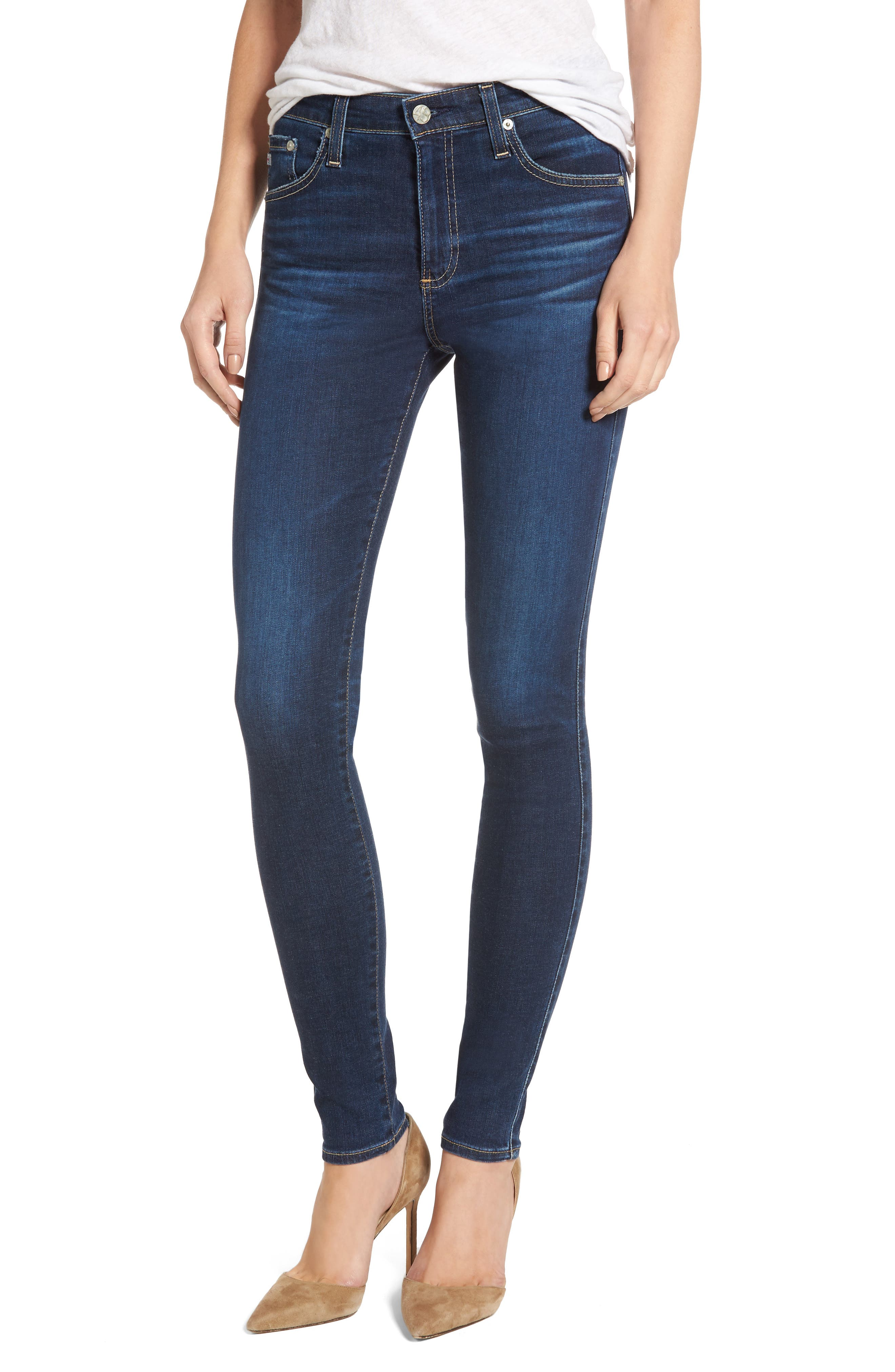 'The Farrah' High Rise Skinny Jeans,                             Main thumbnail 6, color,