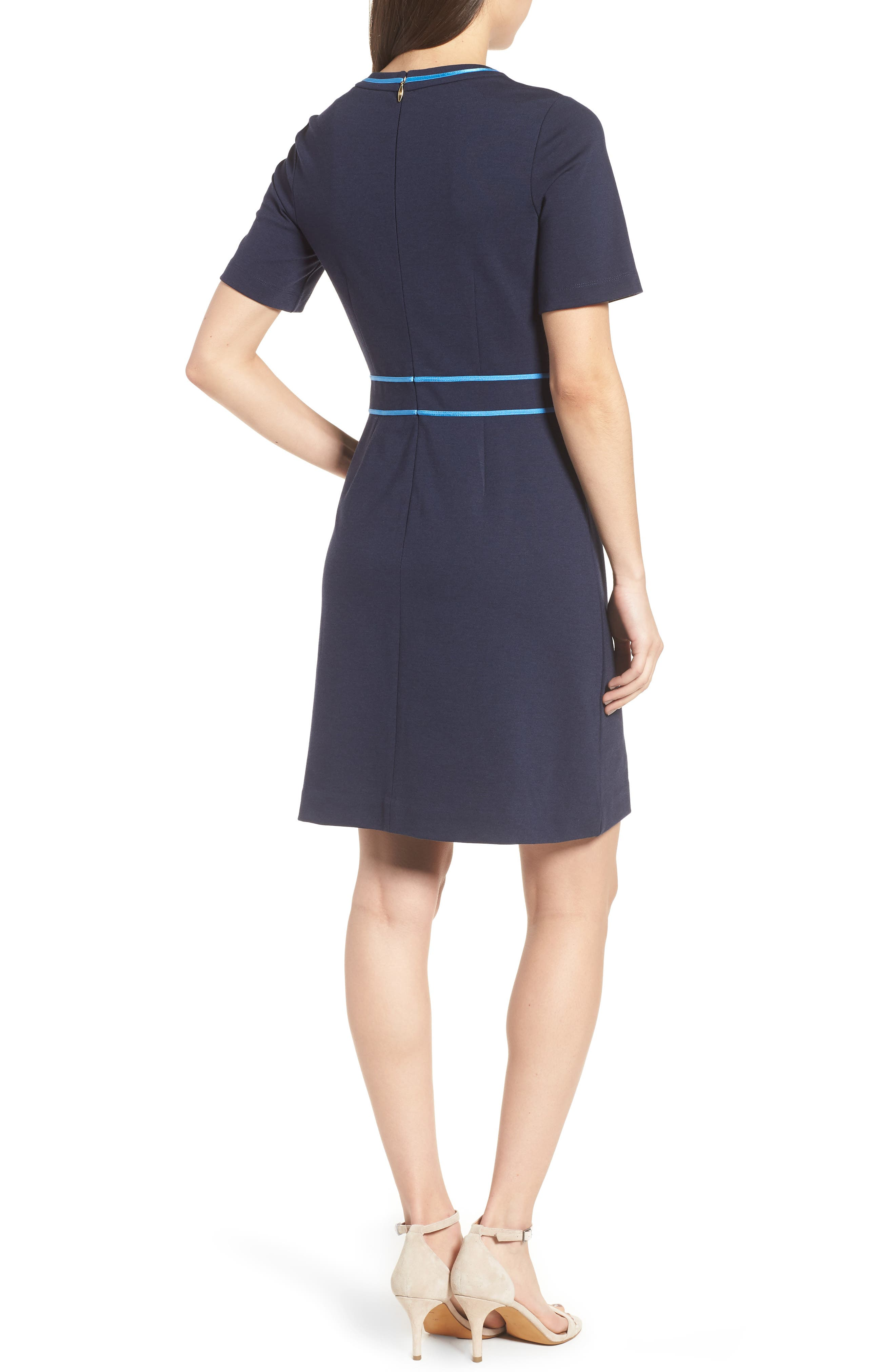 Solid Persley Ponte Dress,                             Alternate thumbnail 2, color,                             432