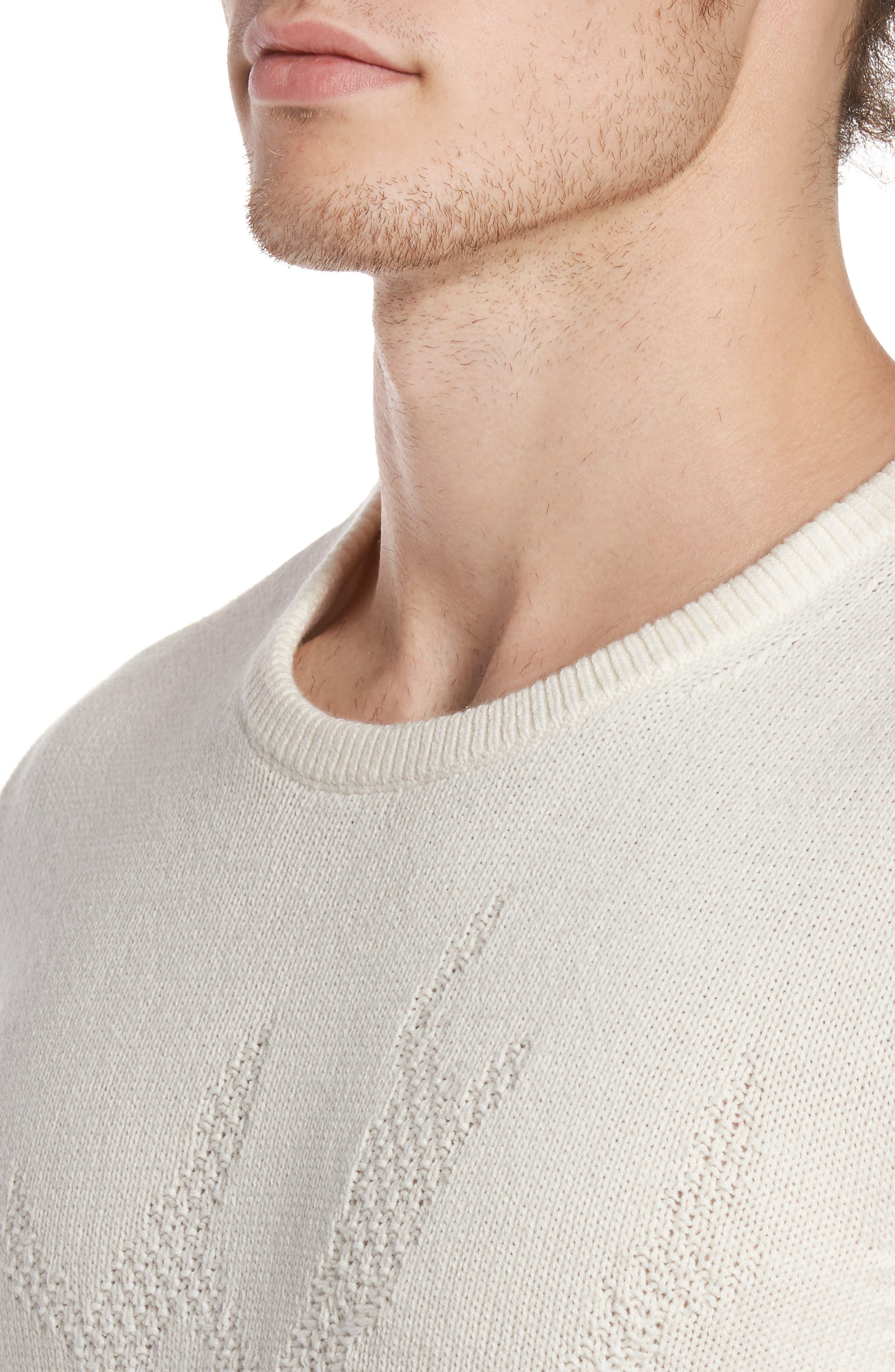 Tonal Motif Sweater,                             Alternate thumbnail 8, color,